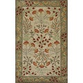 ABC Accents Handmade Alps Beige Green Wool Area Rug (9' x 12')