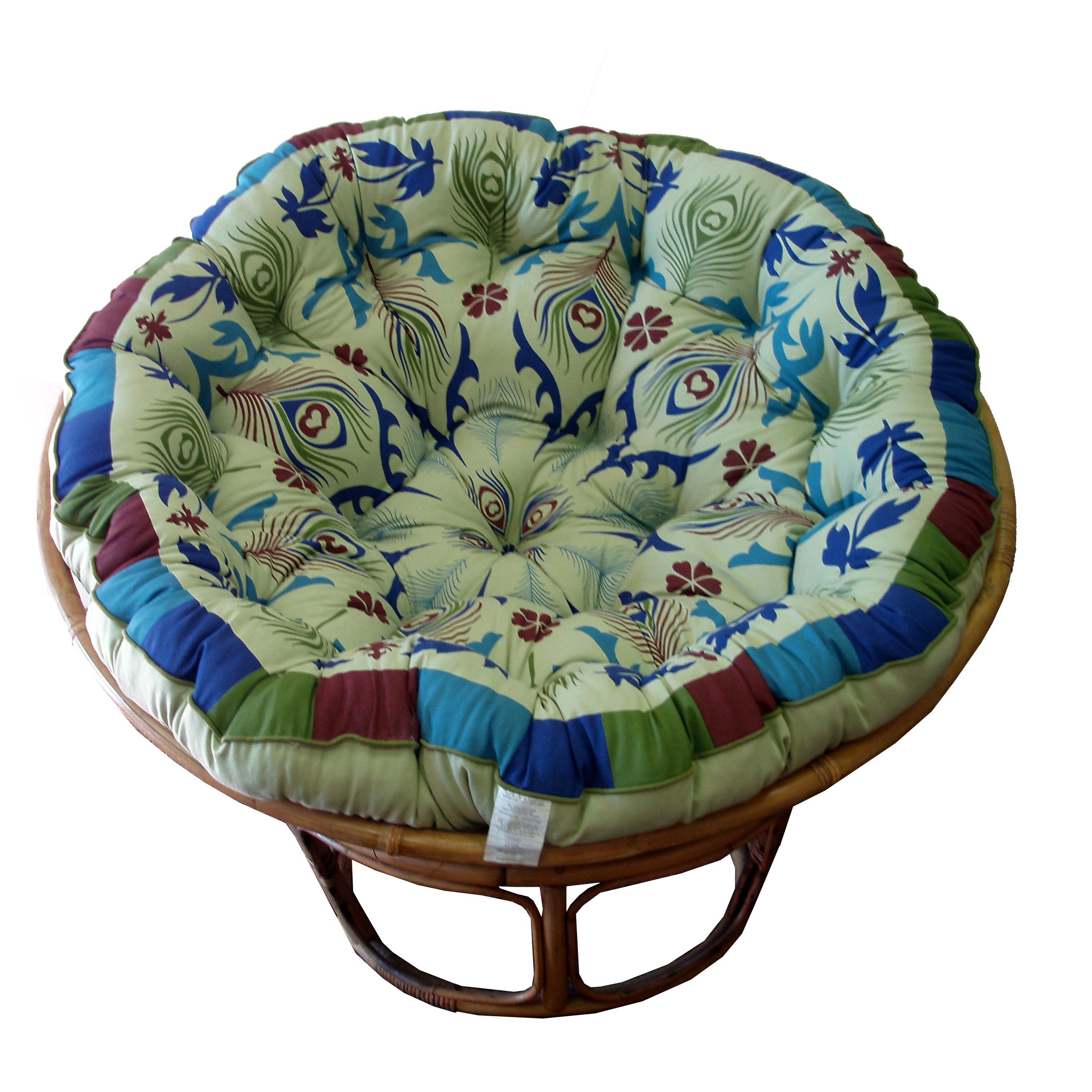 Celebration Papasan Peacock Sage Cushion  Free Shipping Today