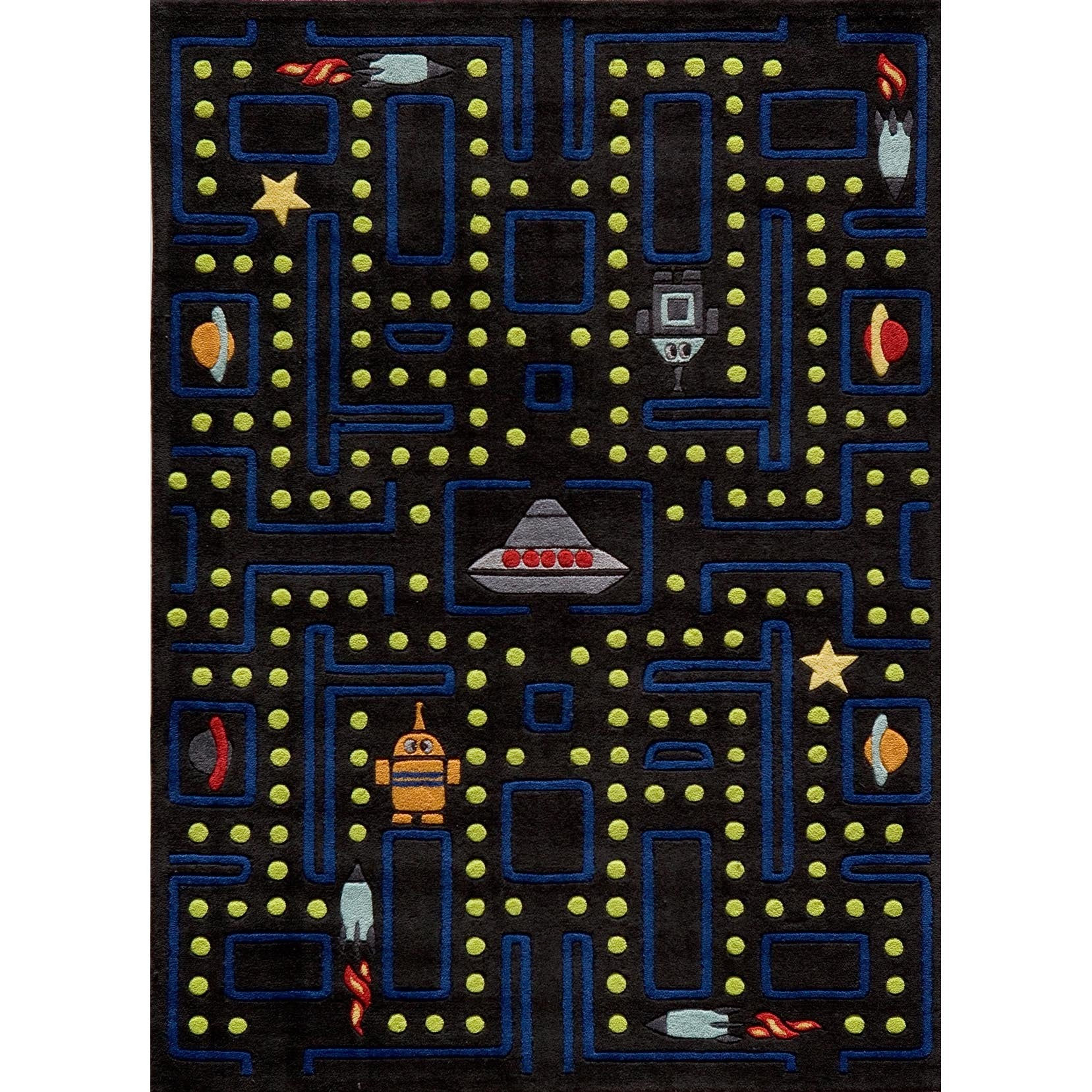 Momeni Lil Mo Whimsy Black Arcade Hand-Tufted and Hand-Carved Rug (2' X 3')  - Free Shipping Today - Overstock.com - 14800132