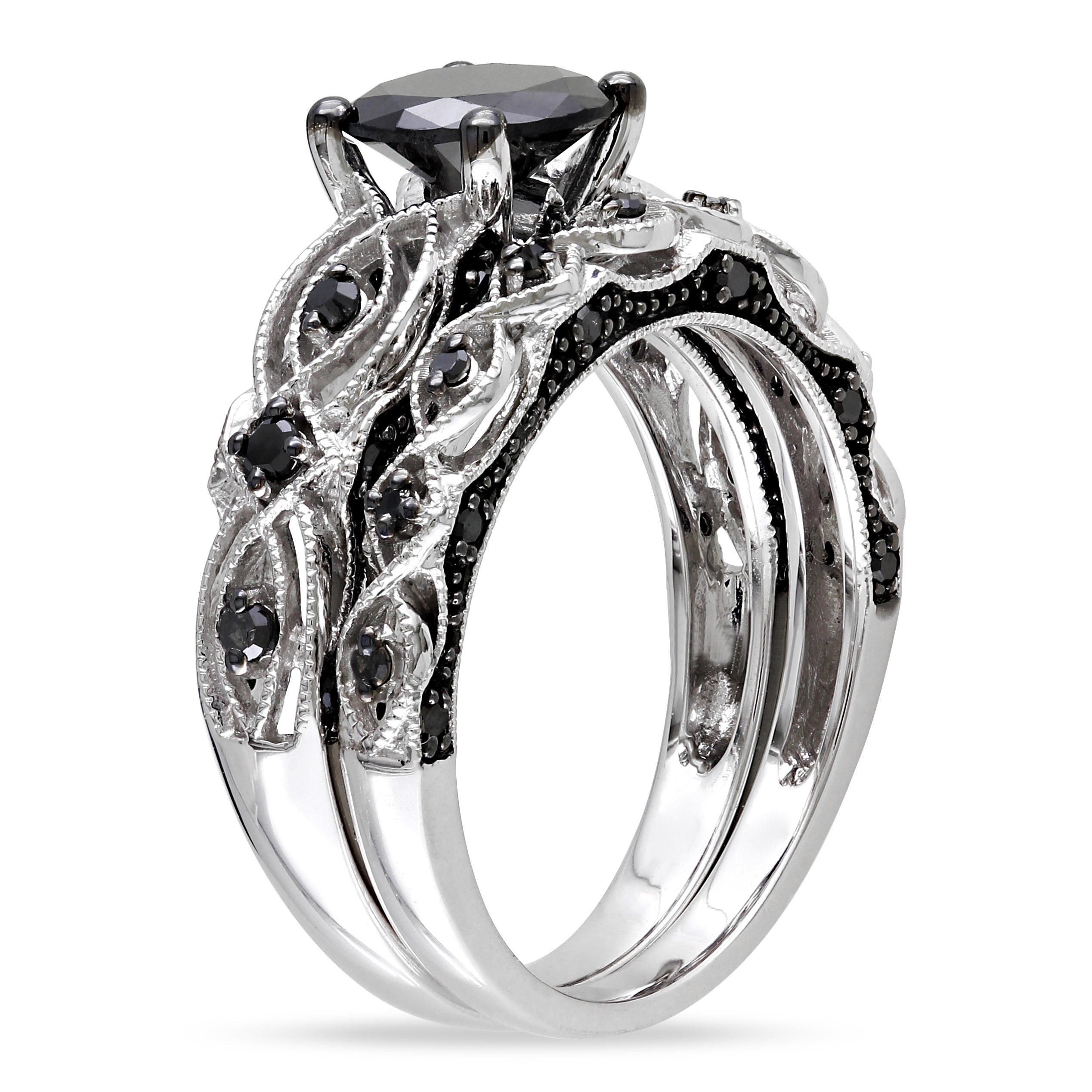 diamond charm product black ring centres solitaire bands melody