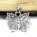 Handmade Pretty Wild Butterfly Detailed .925 Silver Pendants (Thailand)