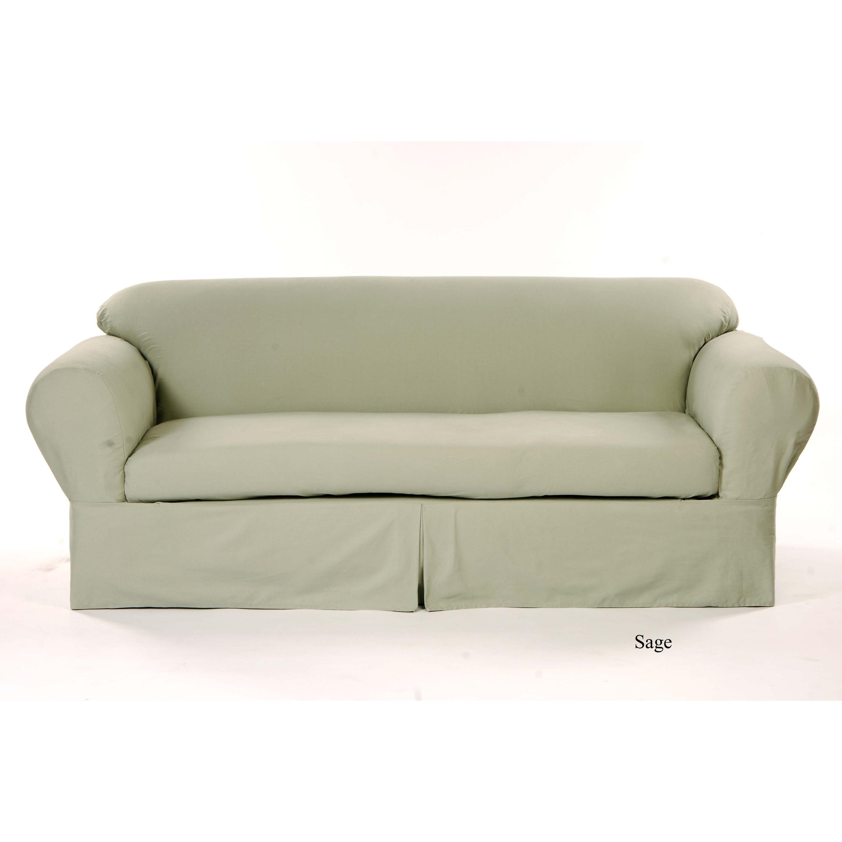 Clic Slipcovers 2 Piece Twill Sofa Slipcover On Free Shipping Today 7358756