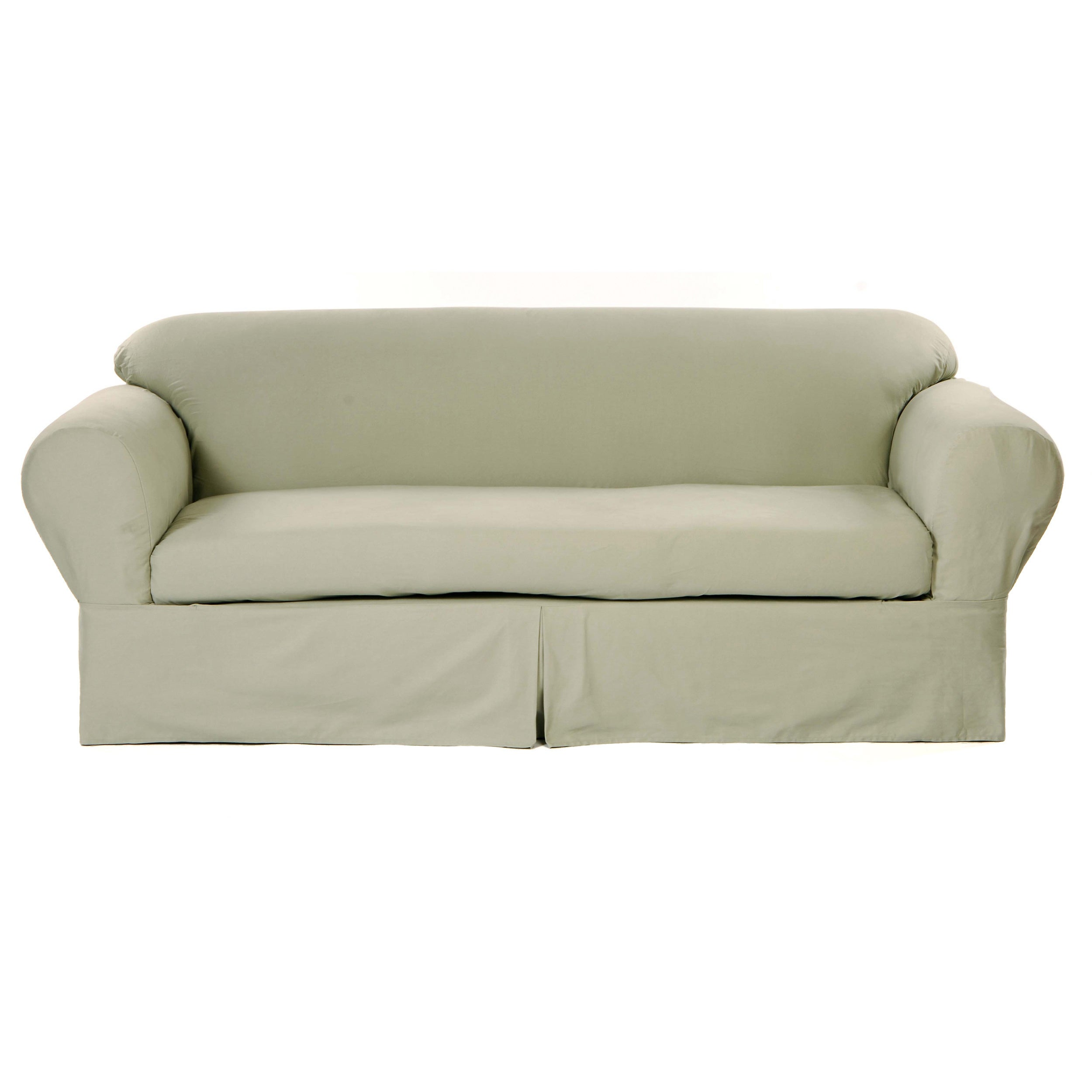 Shop Classic Slipcovers 2-piece Twill Sofa Slipcover - Free Shipping ...
