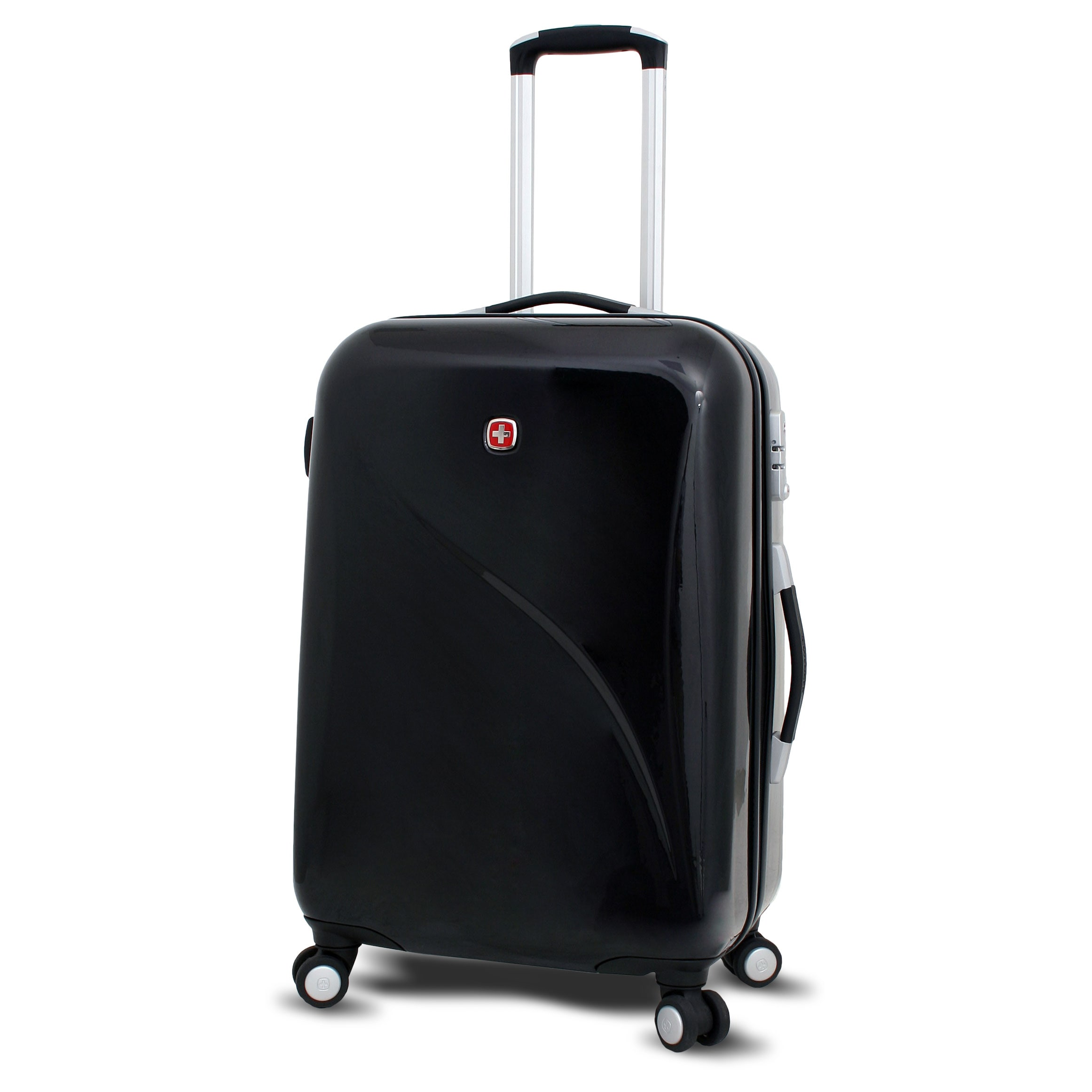 13a0ae206 Shop Wenger Swiss Gear Deluxe 24-inch Hardside Spinner Upright Suitcase  -Free Shipping Today
