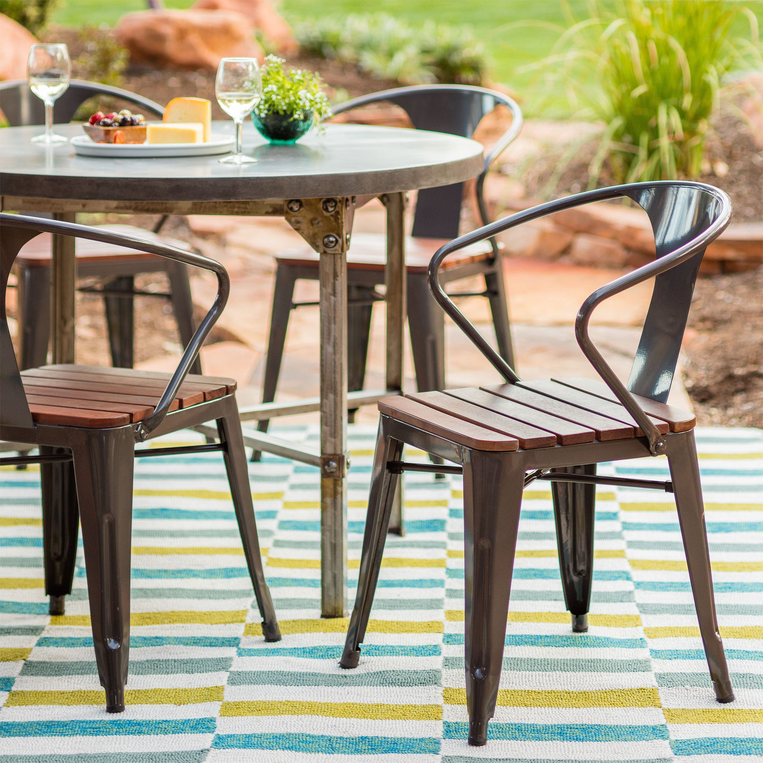 Shop Carbon Loft Boyer Outdoor Chair (set of 4) - Free Shipping ...
