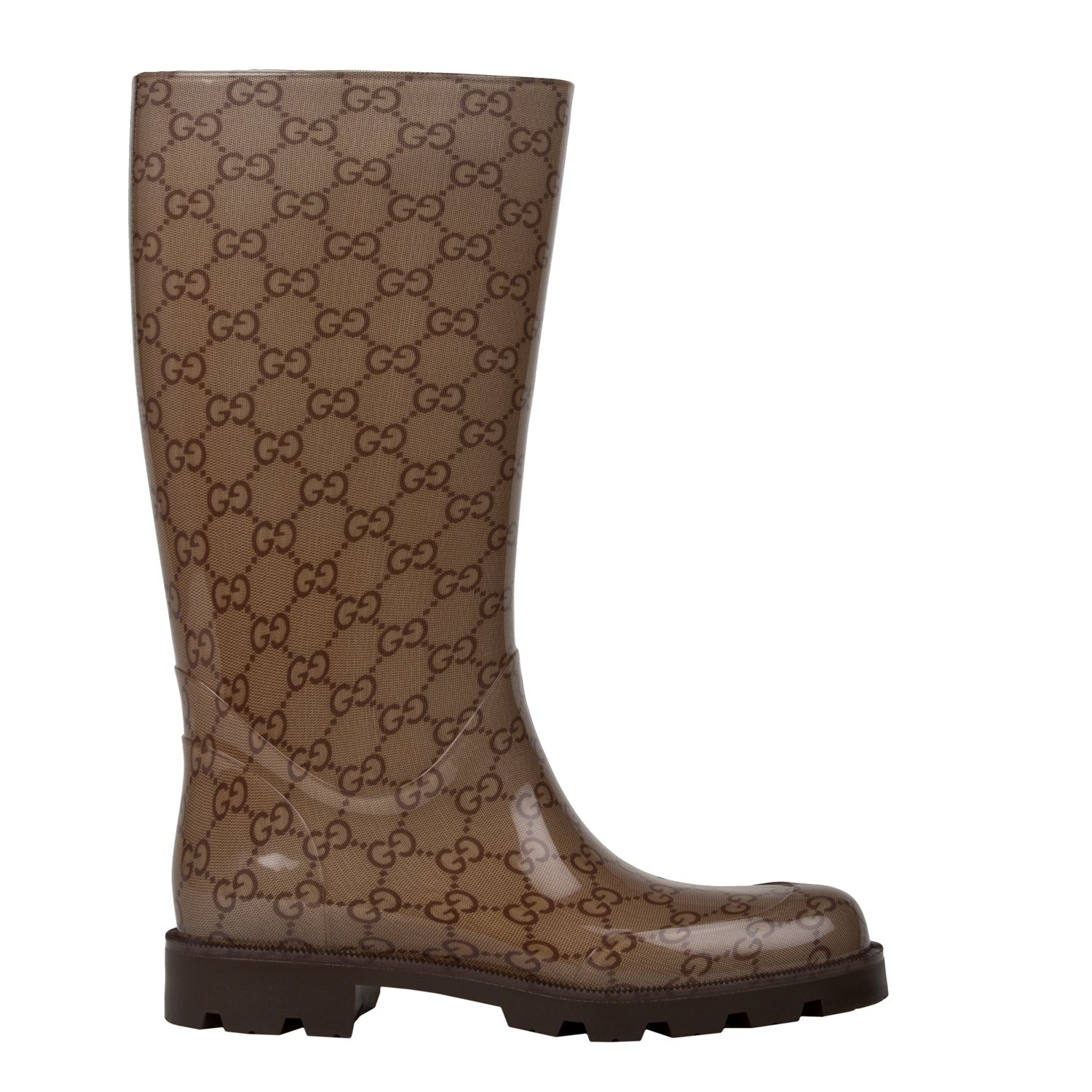 319b8794ad0a Shop Gucci Women s Edimburg GG Flat Rainboot - Free Shipping Today -  Overstock - 7385740