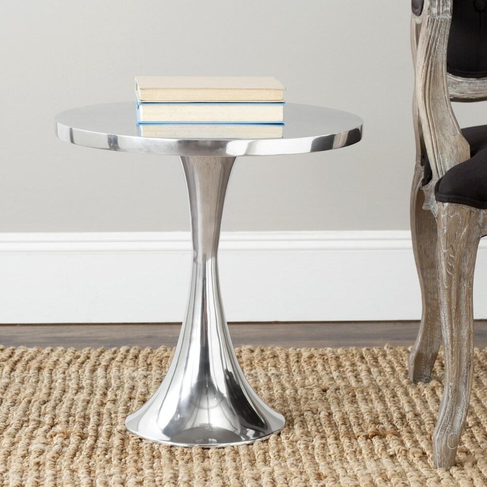 safavieh galium silver side table  free shipping today  overstockcom . safavieh galium silver side table  free shipping today