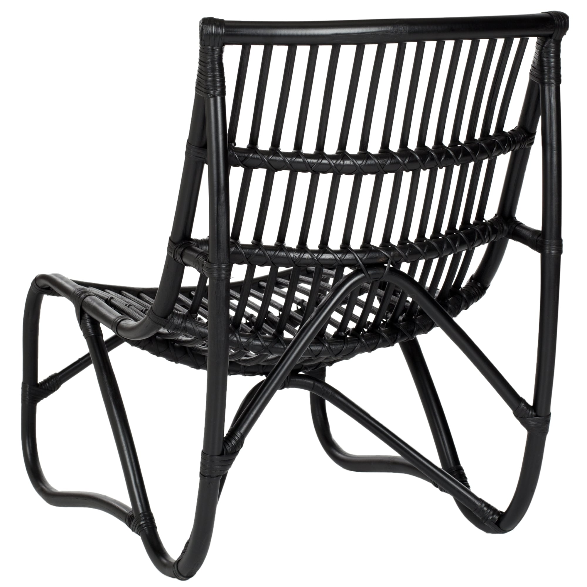 Marvelous Safavieh Shenandoah Black Wicker Chair And Ottoman Set   Free Shipping  Today   Overstock   14846875