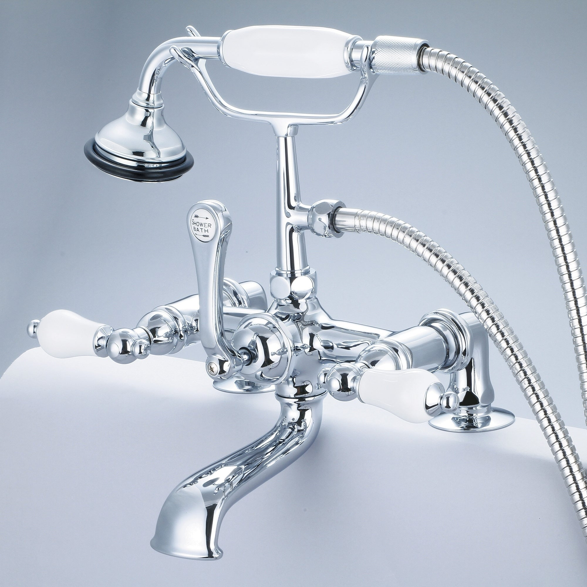 Water Creation Vintage Classic 7-inch Spread Deck Mount Tub Faucet ...