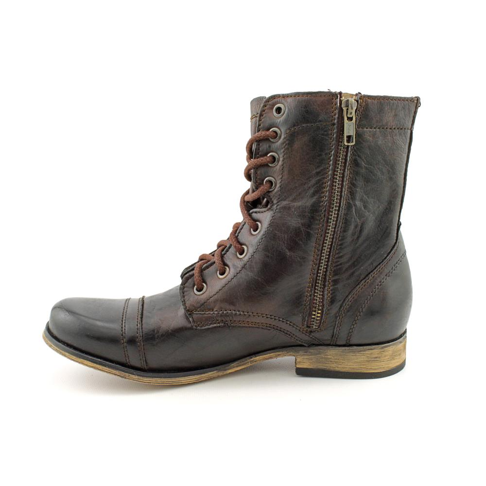 f1bc795363b Shop Steve Madden Men s  Troopah  Leather Boots - Free Shipping Today -  Overstock - 7398195
