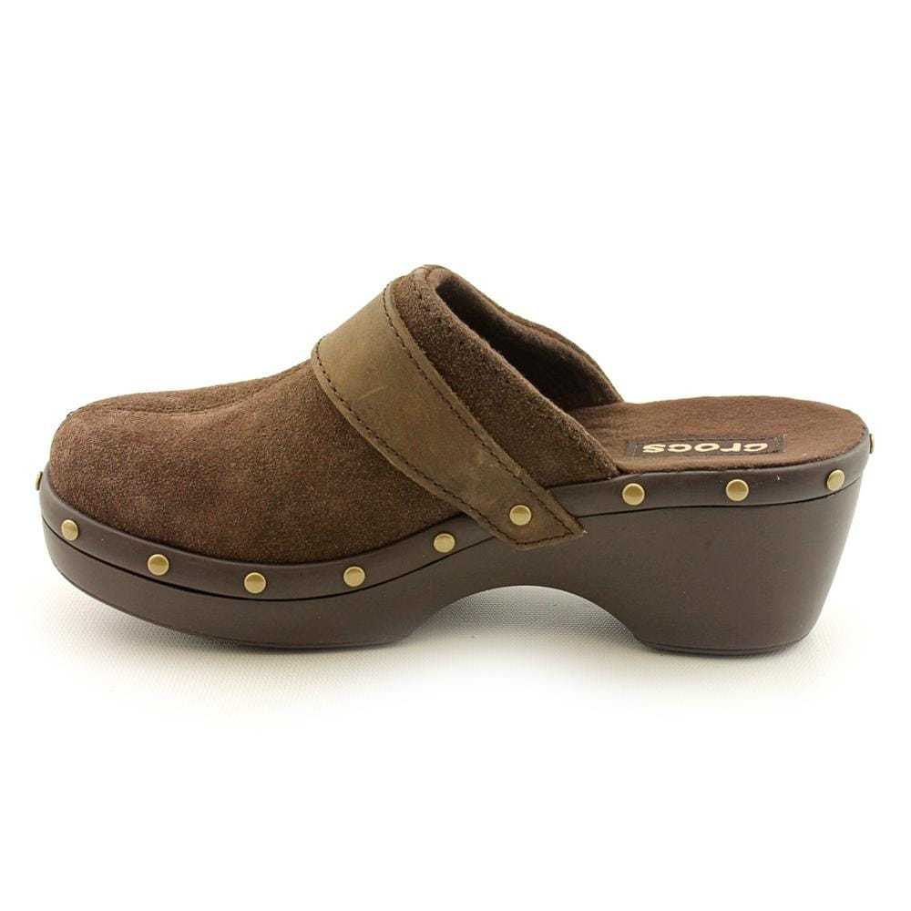 7d4318217 Shop Crocs Women s  Crocs Cobbler Studded Leather Clog  Regular Suede  Casual Shoes - Free Shipping Today - Overstock - 7399961