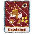 Northwest Washington Redskins Woven Jacquard Acrylic Baby Blanket