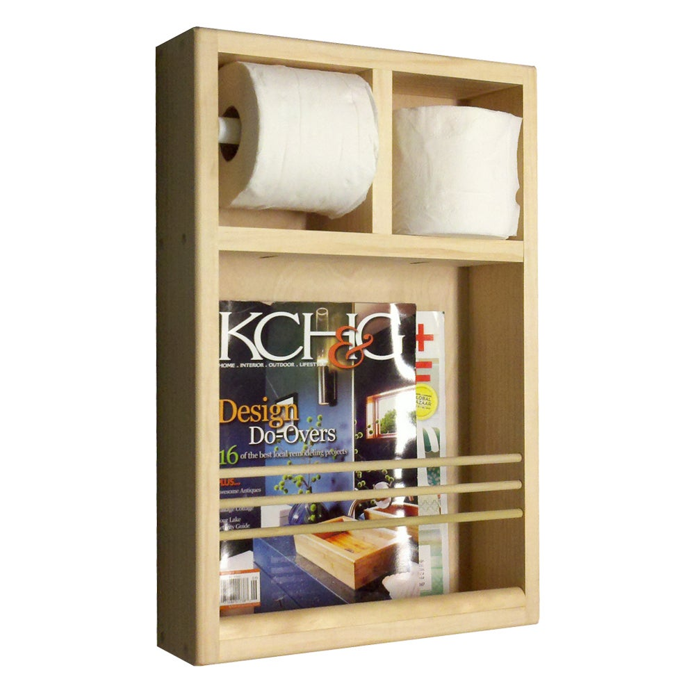 On the Wall Magazine Rack/ Toilet Paper Combo - Free Shipping Today -  Overstock.com - 14858001