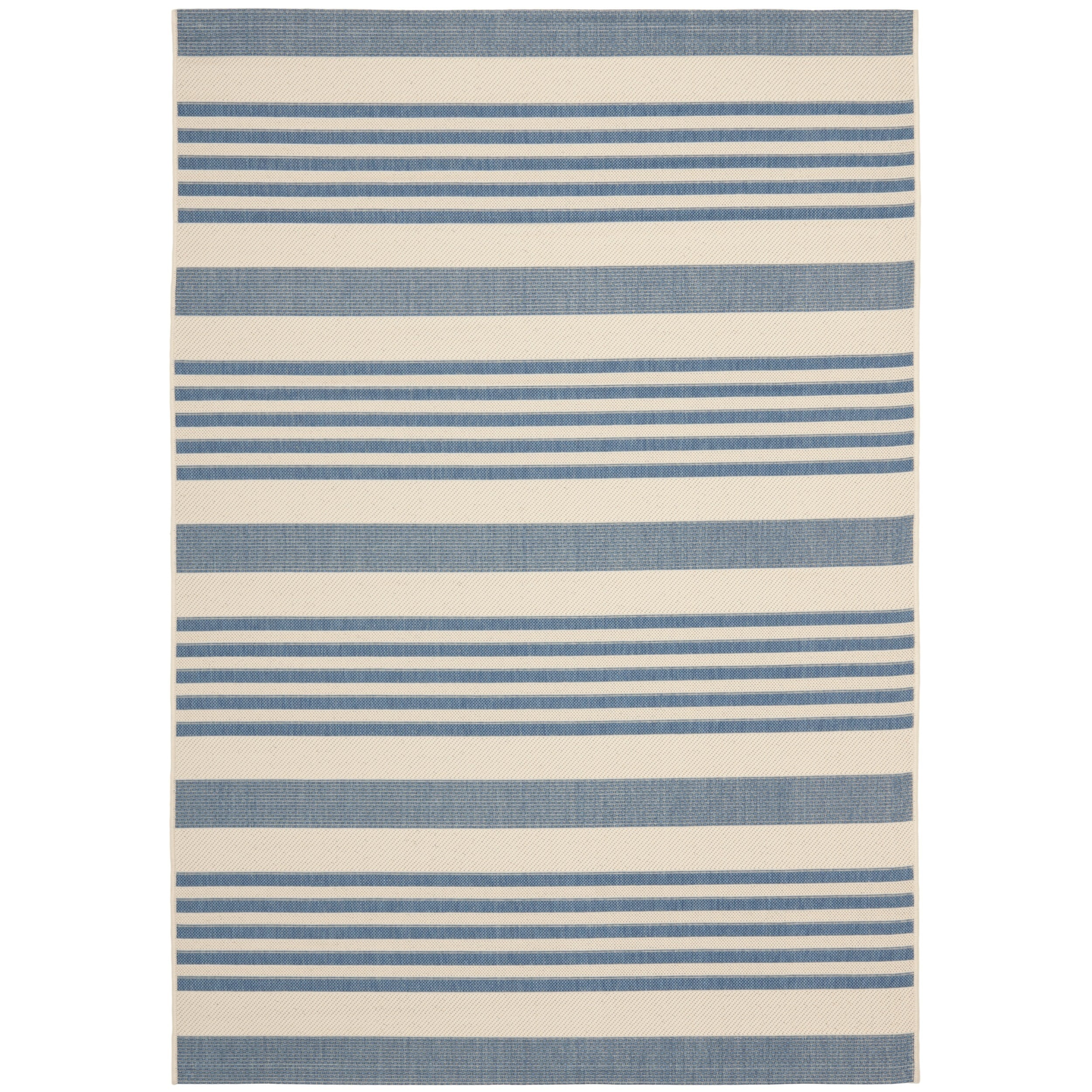 Top Product Reviews for Safavieh Courtyard Stripe Beige/ Blue Indoor ...