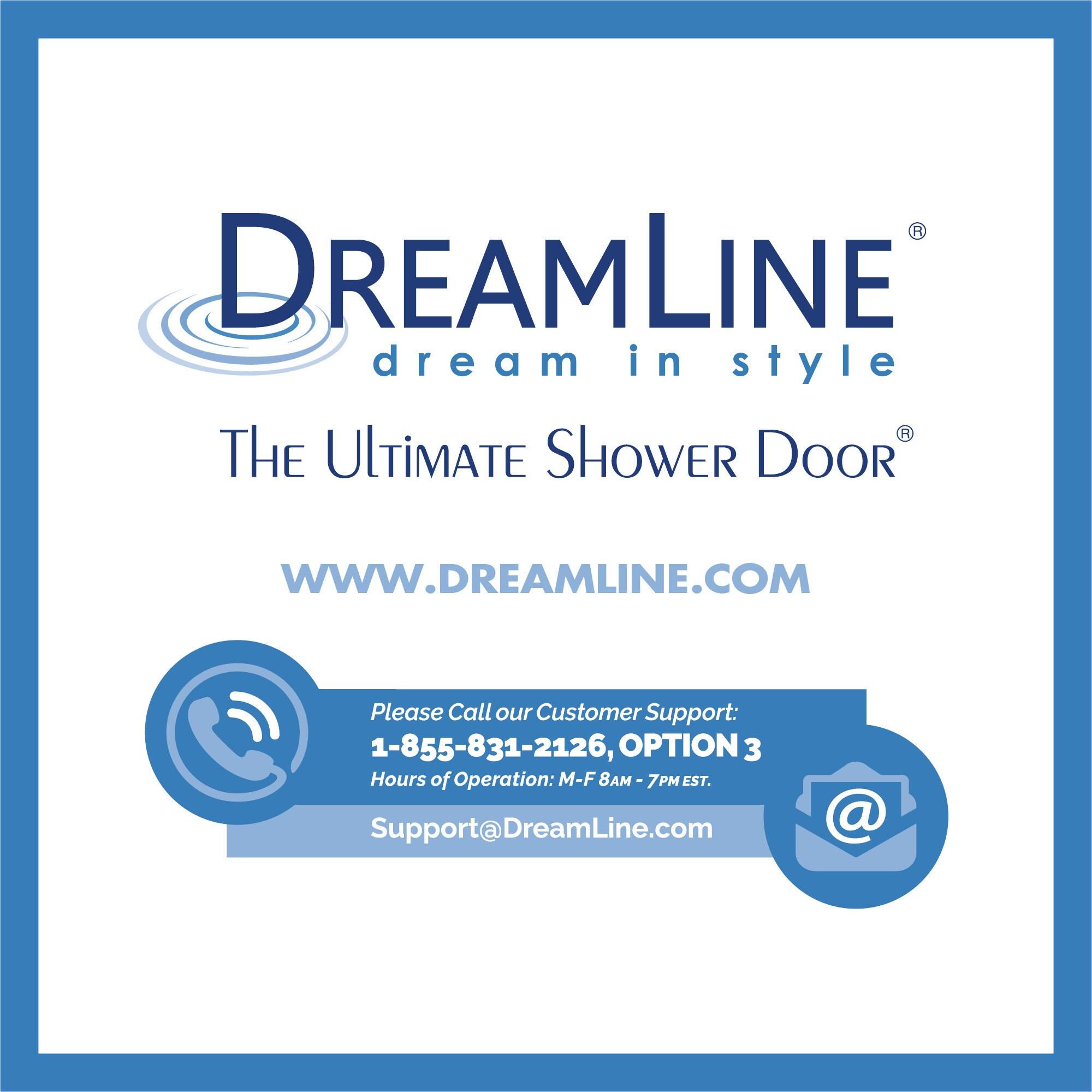 DreamLine Unidoor 23-inch Frameless Hinged Shower Door - Free ...