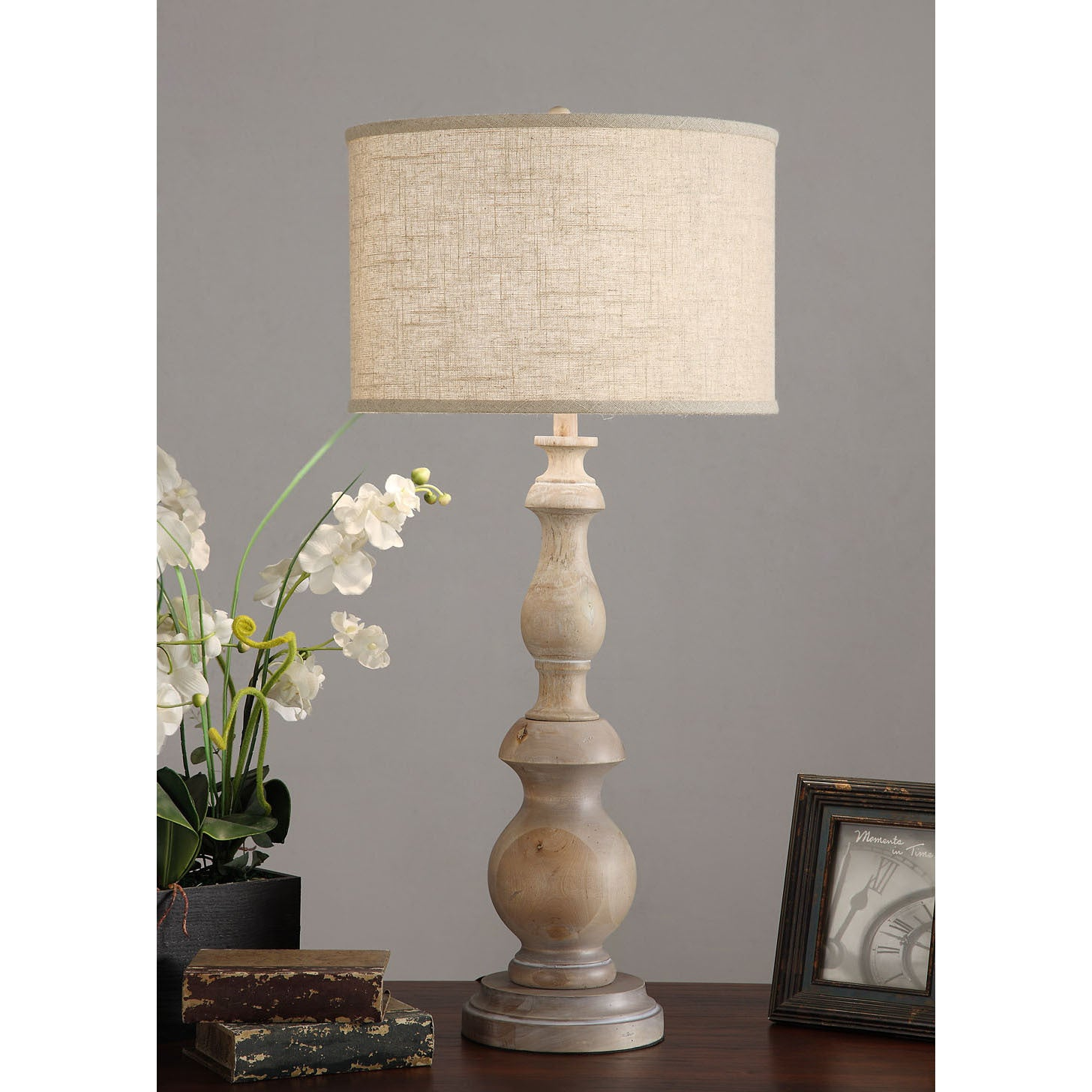 The gray barn latte grand milk washed wooden 38 inch oversized table lamp