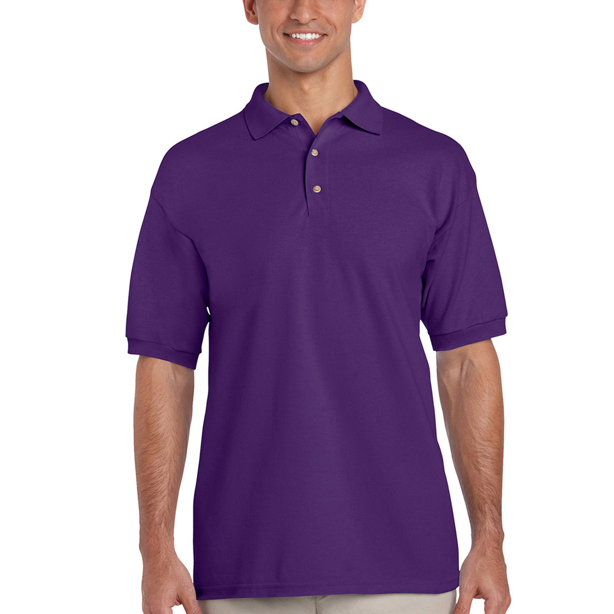aa7868ed Shop Men's Cotton Short Sleeve Polo Shirt - Free Shipping On Orders Over  $45 - Overstock - 7411787