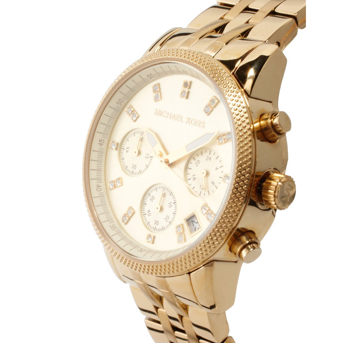 0ea72afdc832 Shop Michael Kors Women s MK5676 Ritz Stainless Steel Watch - Free Shipping  Today - Overstock - 7424086