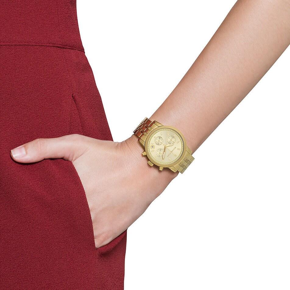 2fce88e5a424 Shop Michael Kors Women s MK5676 Ritz Stainless Steel Watch - Free Shipping  Today - Overstock - 7424086