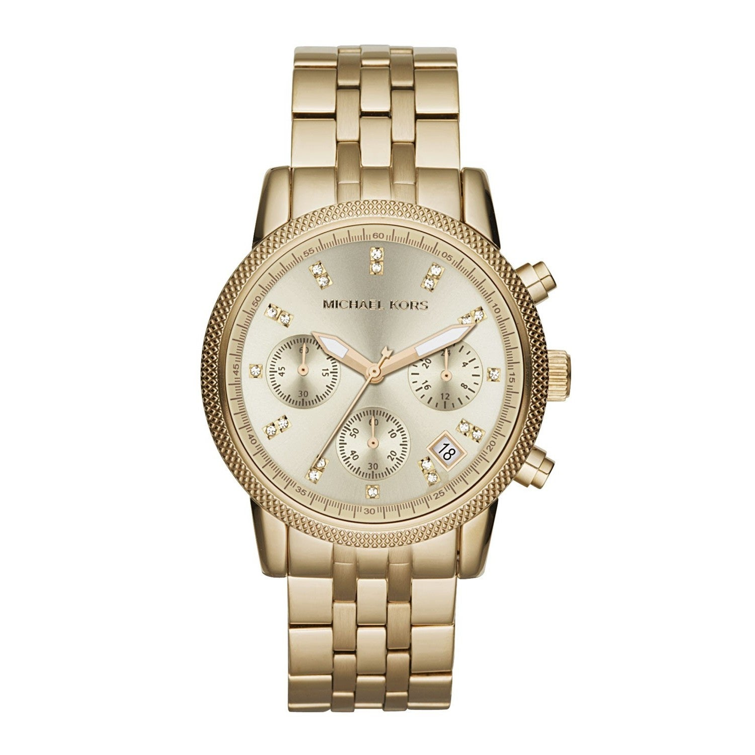 1d7baa56f009 Shop Michael Kors Women s MK5676 Ritz Stainless Steel Watch - Free ...