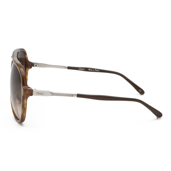 673e3c606169 Shop Chloe Women s  Adonis  Pale Tortoise Shell Fashion Sunglasses - Free  Shipping Today - Overstock - 7424677