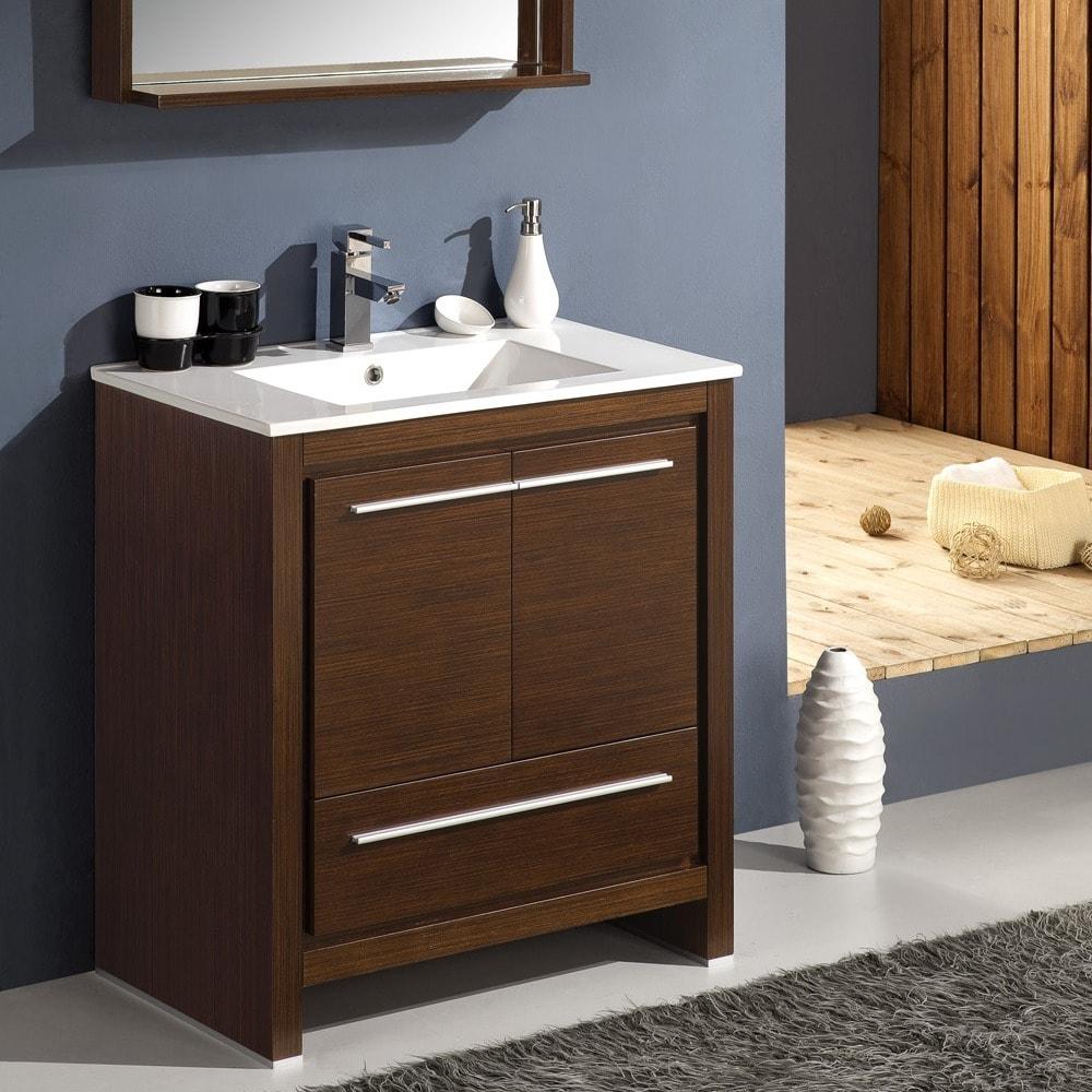 Fresca Allier 30 inch Wenge Brown Modern Bathroom