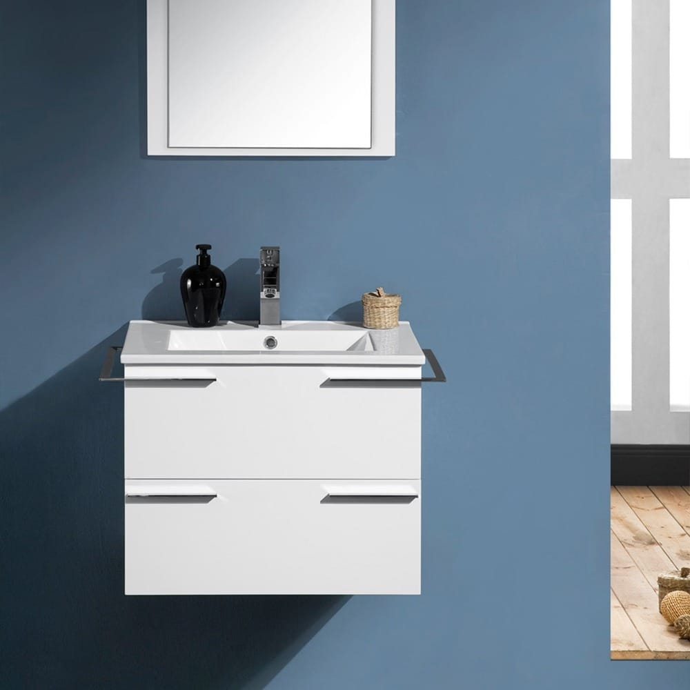 Shop Fresca Cielo 24-inch White Modern Bathroom Vanity with Mirror ...