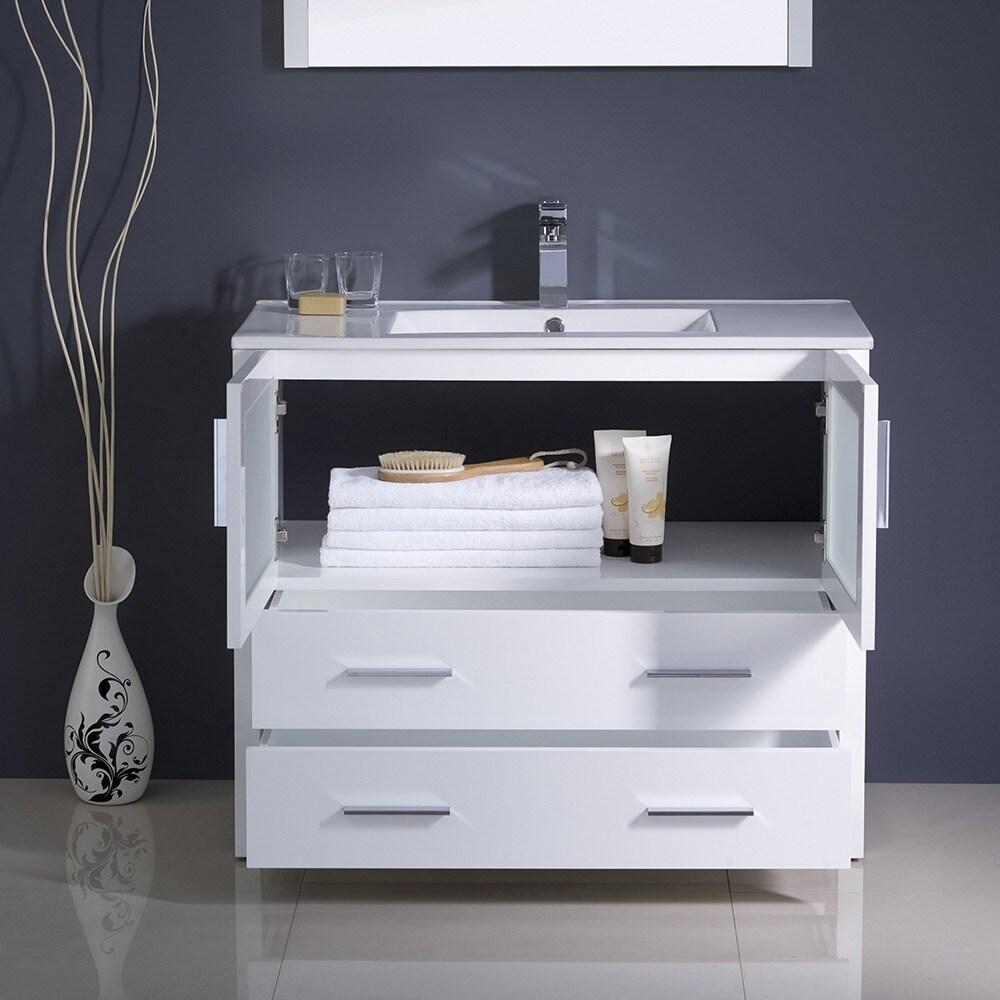 Fresca Torino 36 Inch White Modern Bathroom Vanity With Undermount Sink Free Shipping Today 7456512