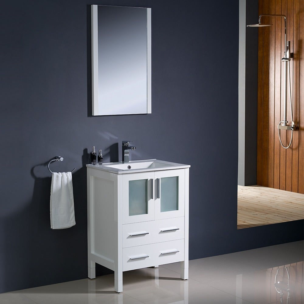Fresca Torino 24-inch White Modern Bathroom Vanity with Undermount ...