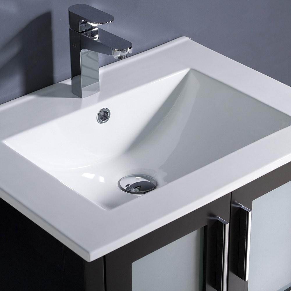 Shop Fresca Torino 24 Inch Espresso Modern Bathroom Vanity With Undermount  Sink   Free Shipping Today   Overstock.com   7456540