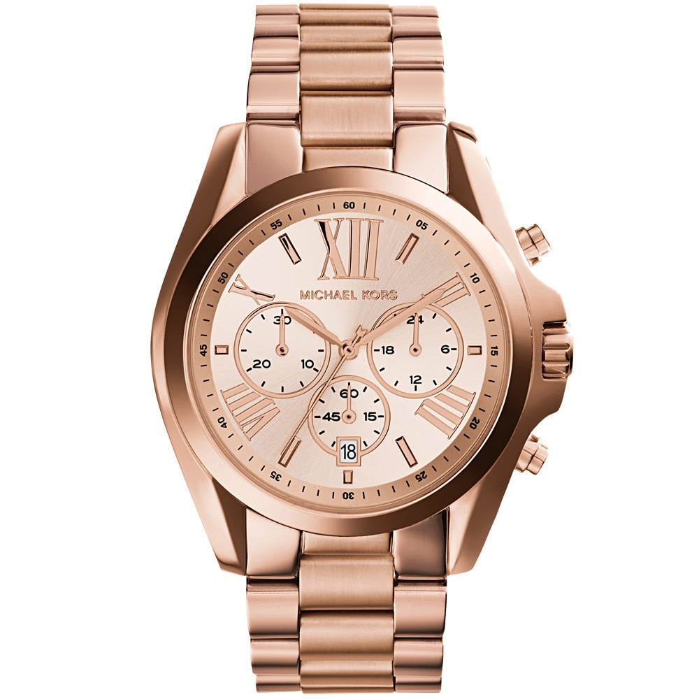 Shop Michael Kors Womens Bradshaw Rose Tone Chronograph Mk5503