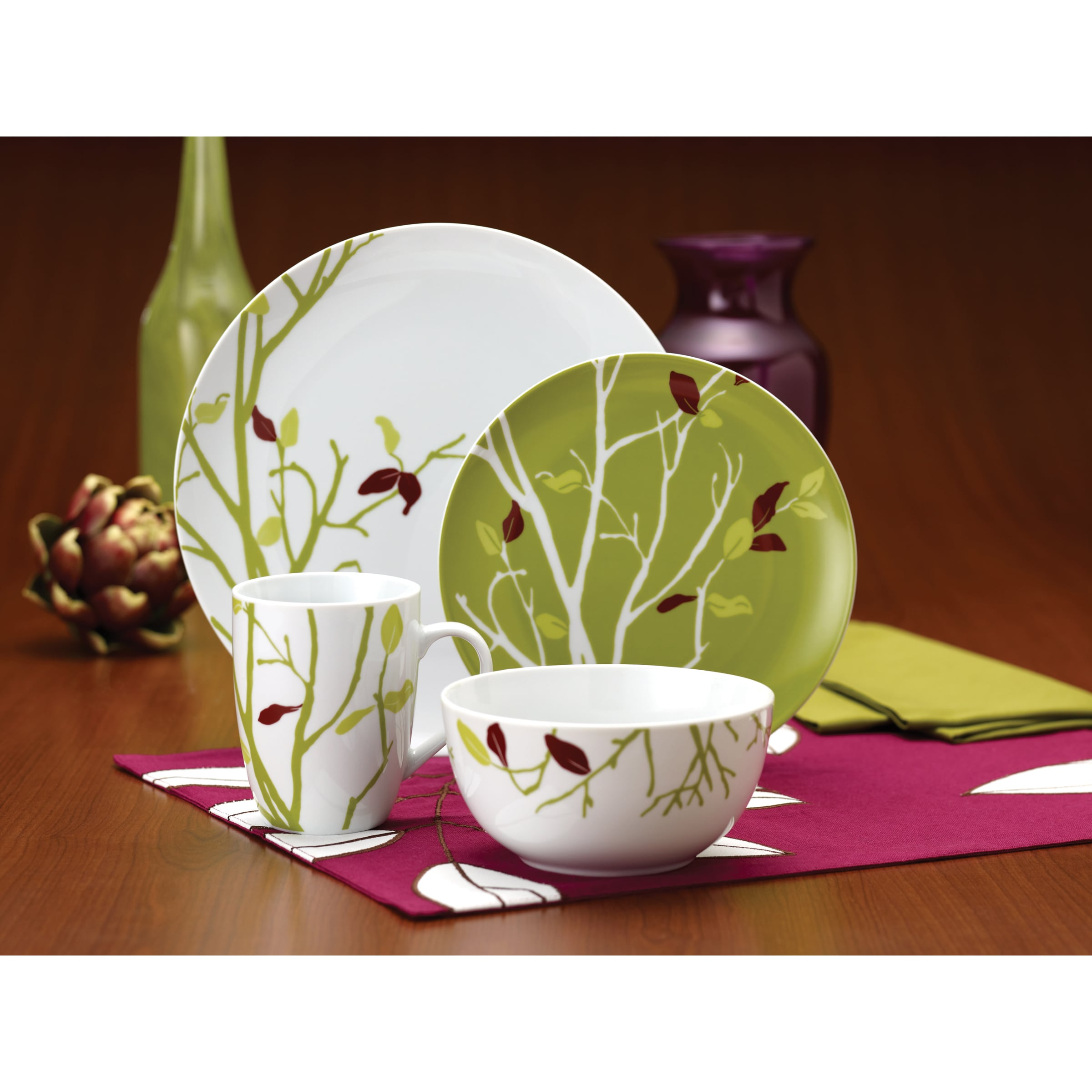 Shop Rachael Ray Dinnerware Seasons Changing 16-piece Porcelain Dinnerware Set - Free Shipping Today - Overstock.com - 7468937  sc 1 st  Overstock.com & Shop Rachael Ray Dinnerware Seasons Changing 16-piece Porcelain ...