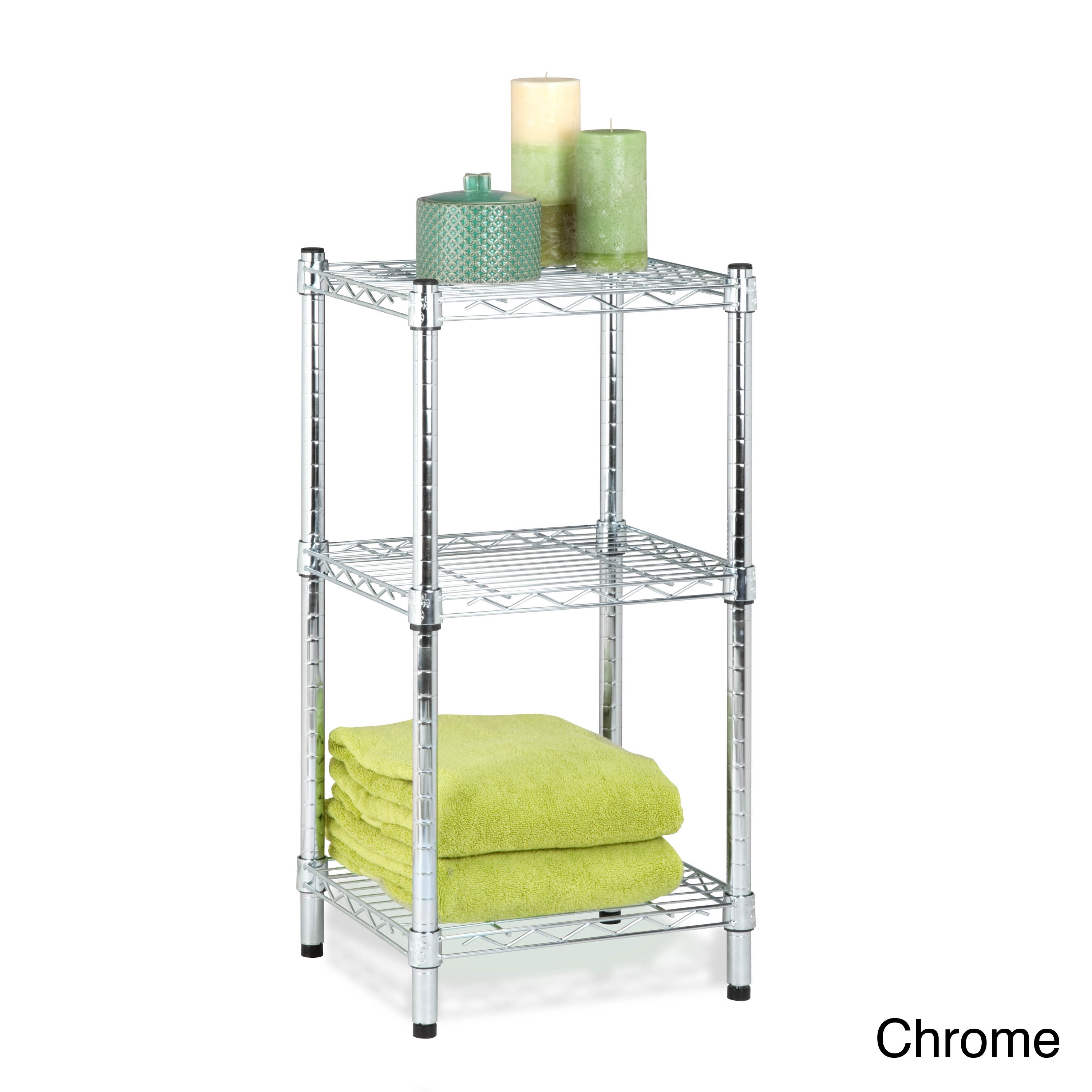 Shop Honey Can Do 3-tier Steel Wire Shelving Tower - Free Shipping ...