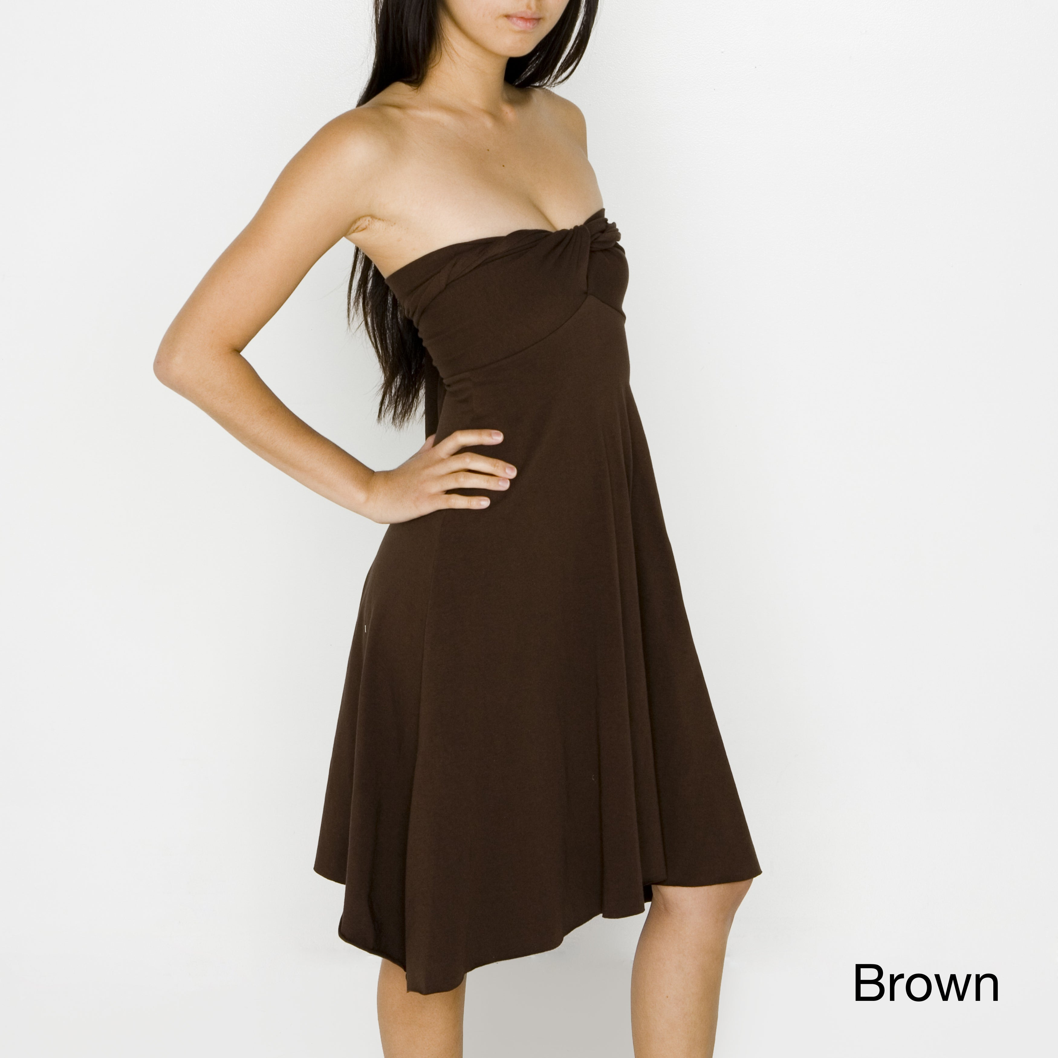60d0c58ee9ba8 Shop American Apparel Women s Convertible Jersey Bandeau Dress - Free  Shipping On Orders Over  45 - Overstock - 7472546