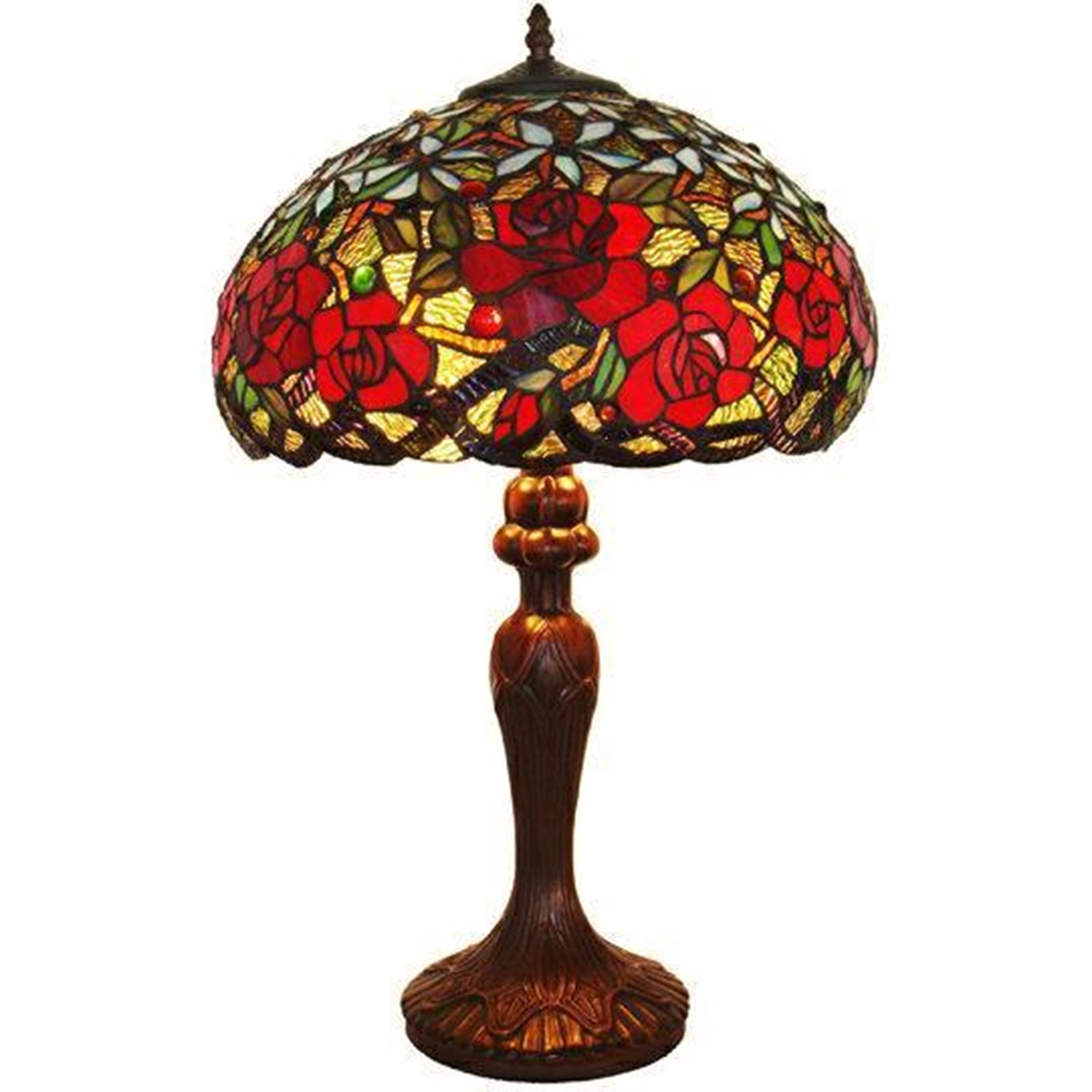 9d8671c1d08 Shop Tiffany Style Roses Table Lamp - On Sale - Free Shipping Today -  Overstock - 7480185