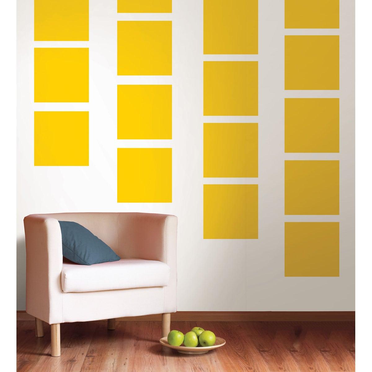 Shop WallPops Lello Yellow Blox Decal Bundle Vinyl Wall Art - Free ...