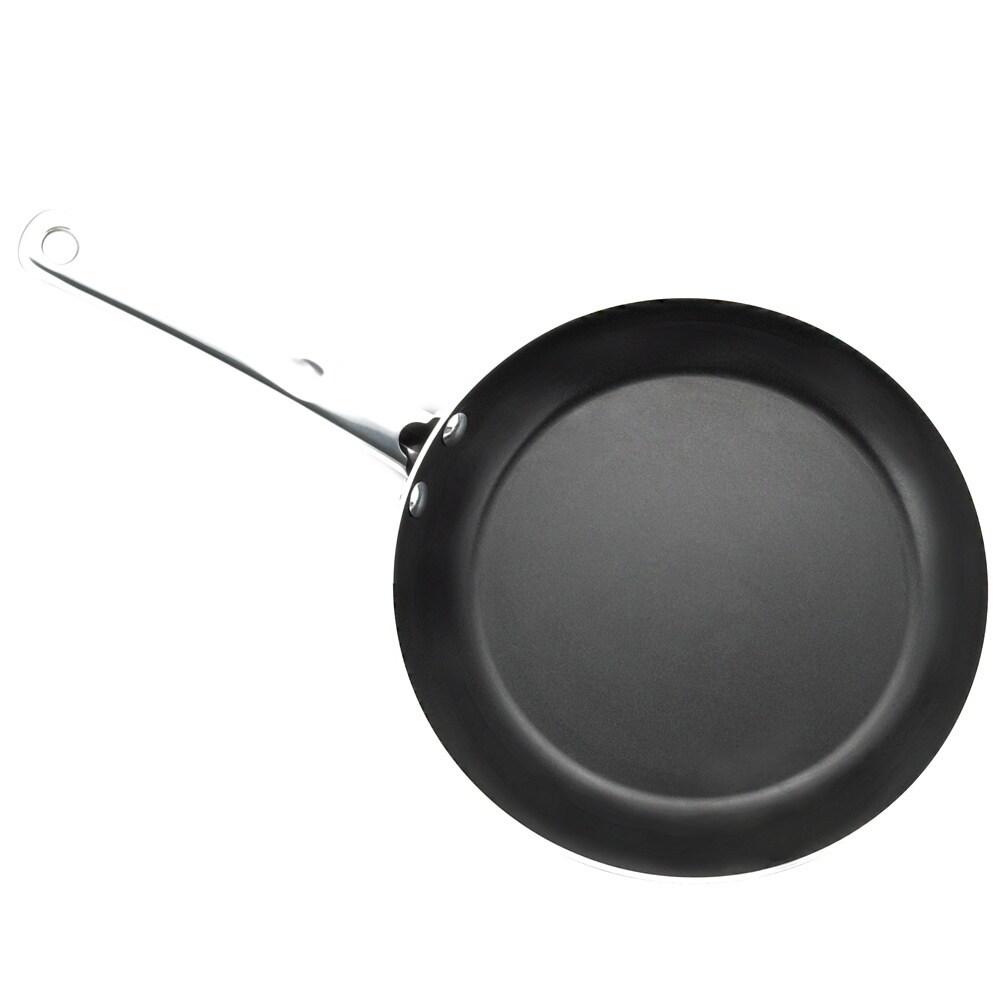 Farberware Kitchen Ease 3-piece Black Aluminum Non-stick Skillet Set ...