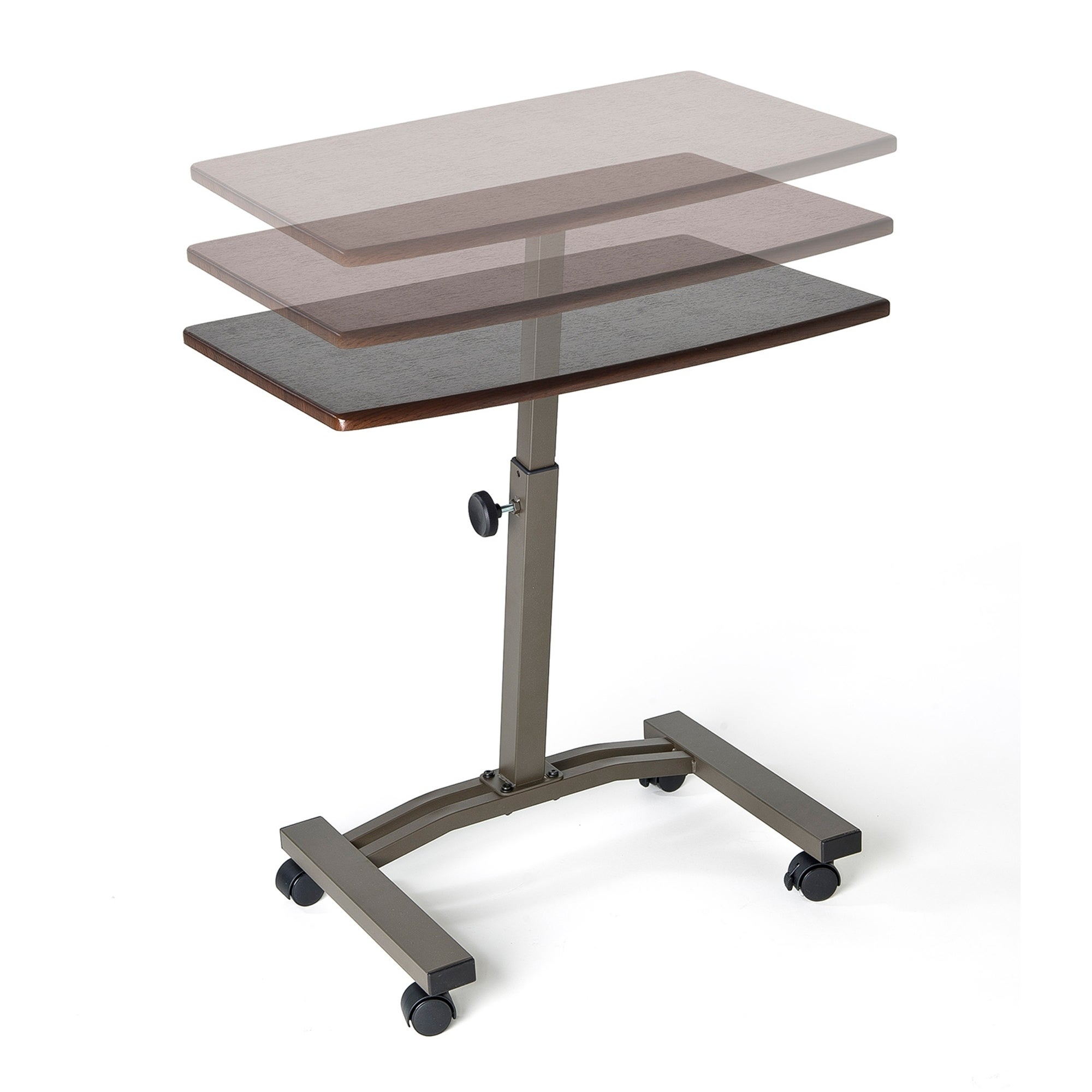 Shop Seville Classics Adjustable Height Mobile Laptop Desk Cart   Free  Shipping Today   Overstock.com   7484969