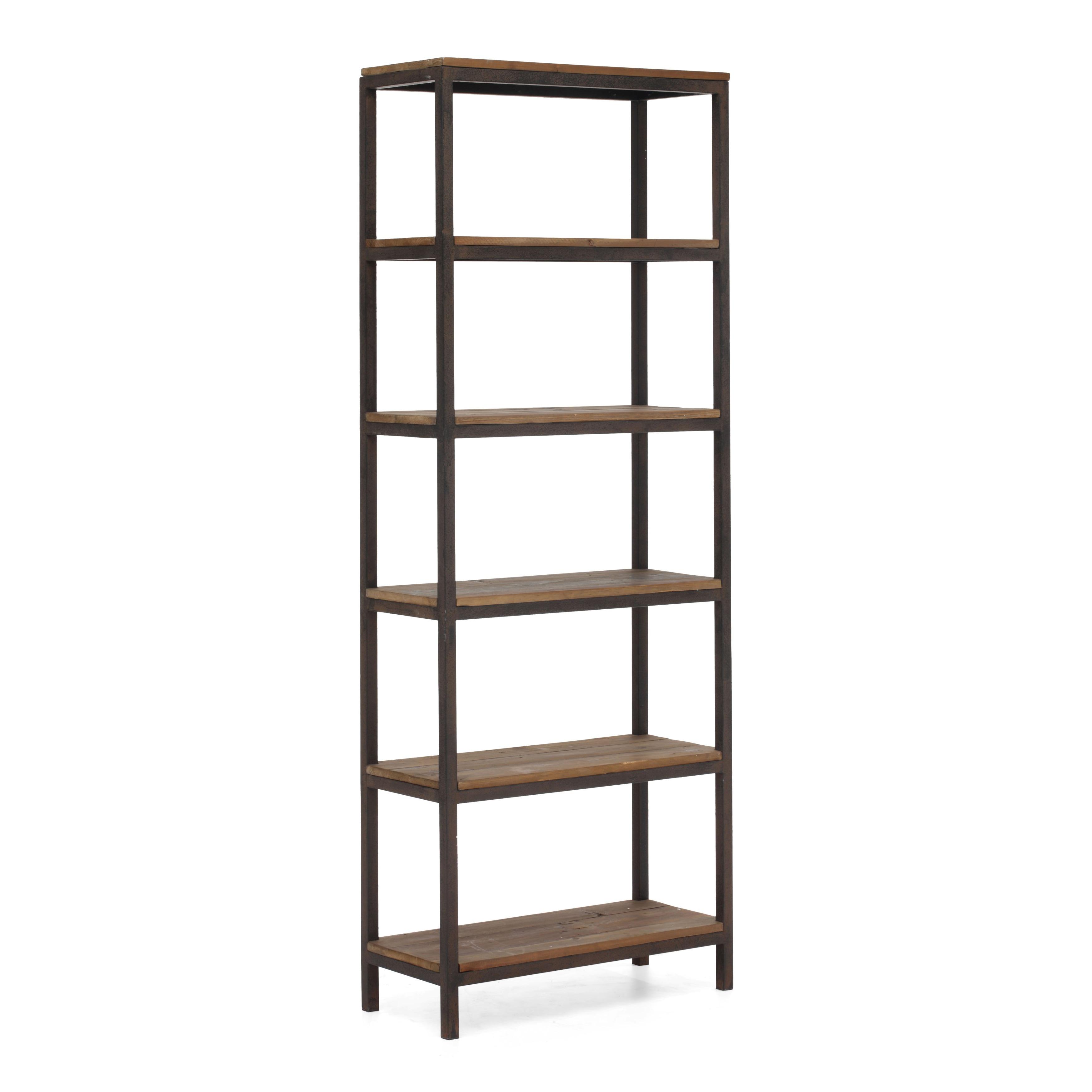 Shop Mission Bay Tall 6 Shelf Distressed Natural Finish Bookshelf