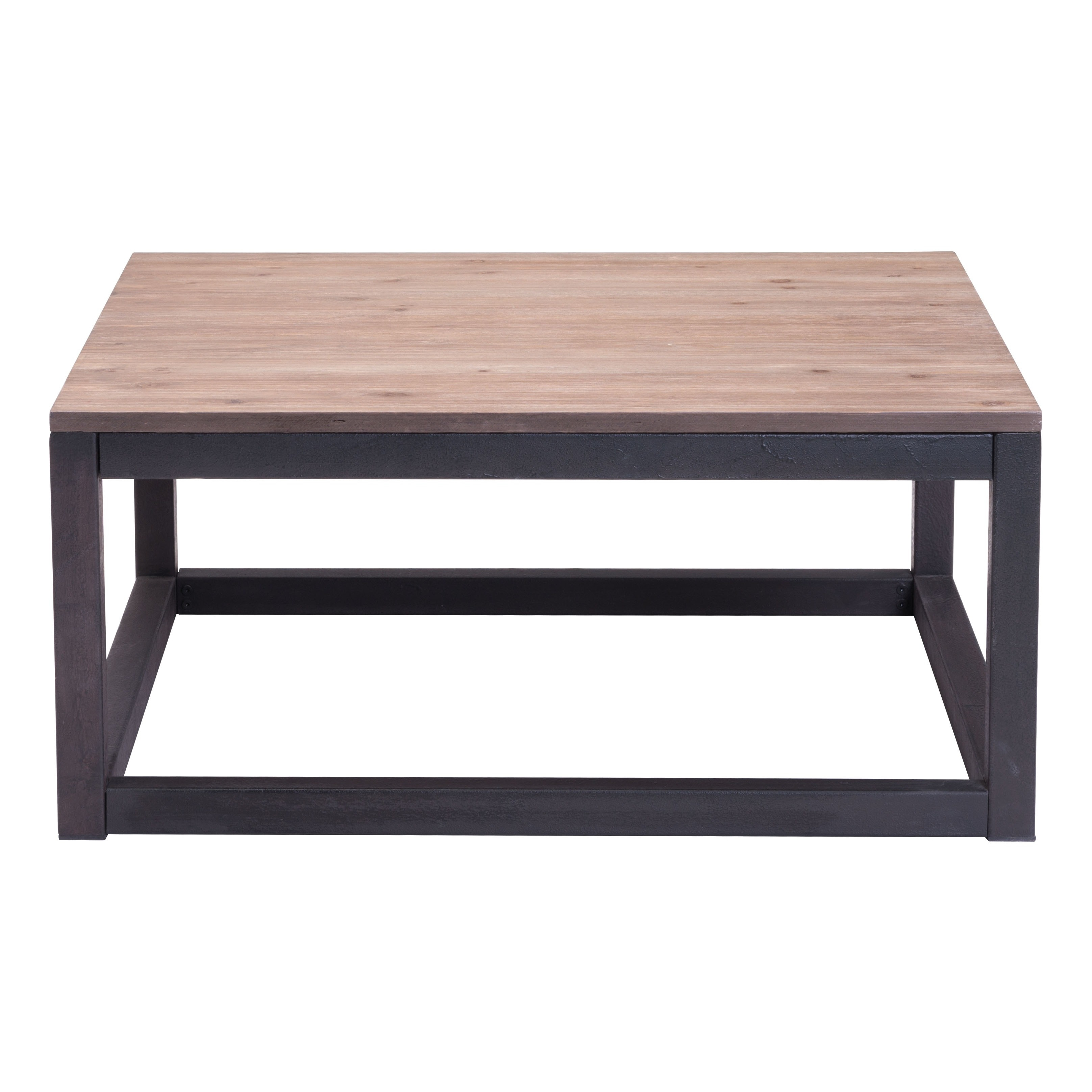 Civic Center Distressed Natural Square Coffee Table Free Shipping Today 7492147