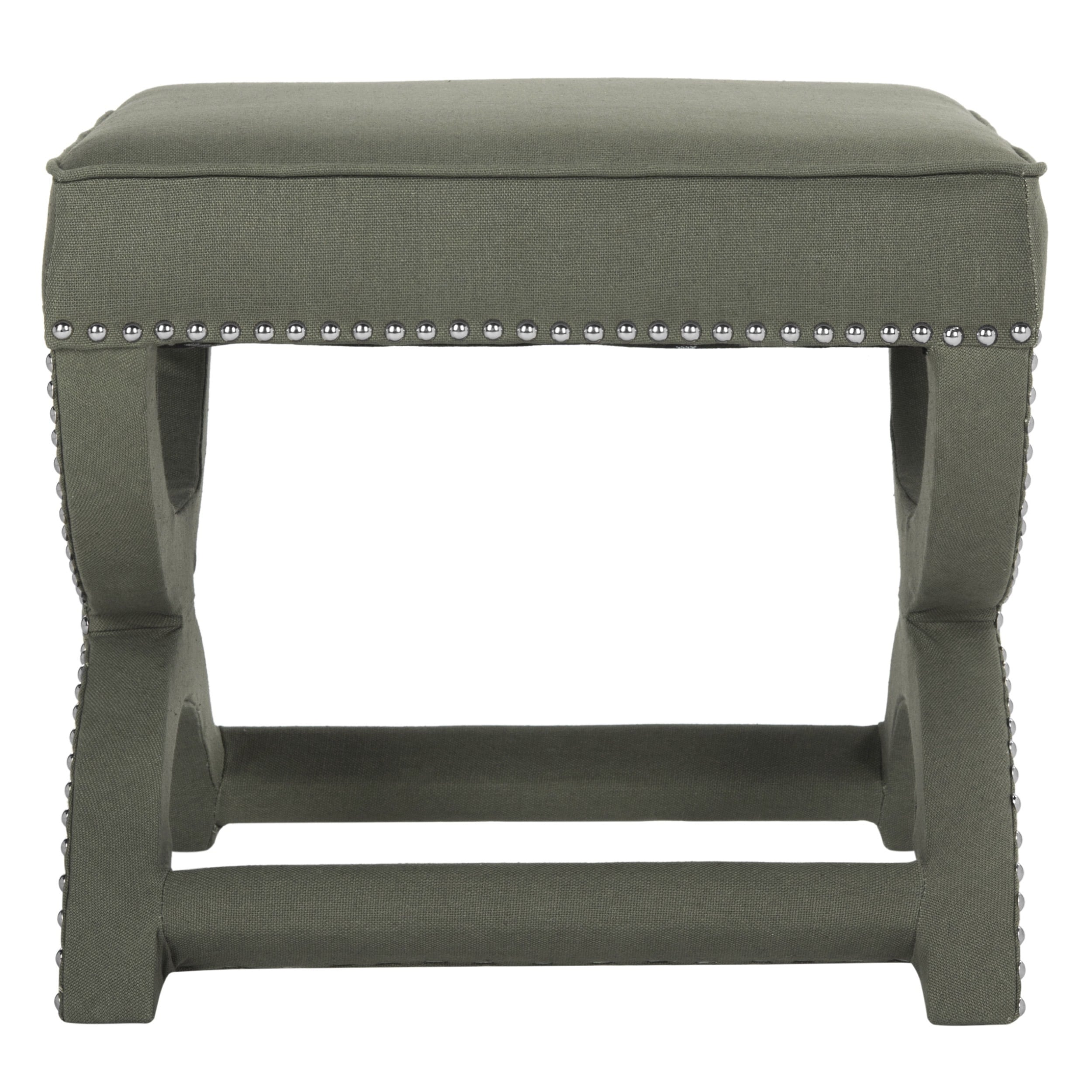 Safavieh Dante X Bench Taupe Grey Ottoman On Free Shipping Today 7495223
