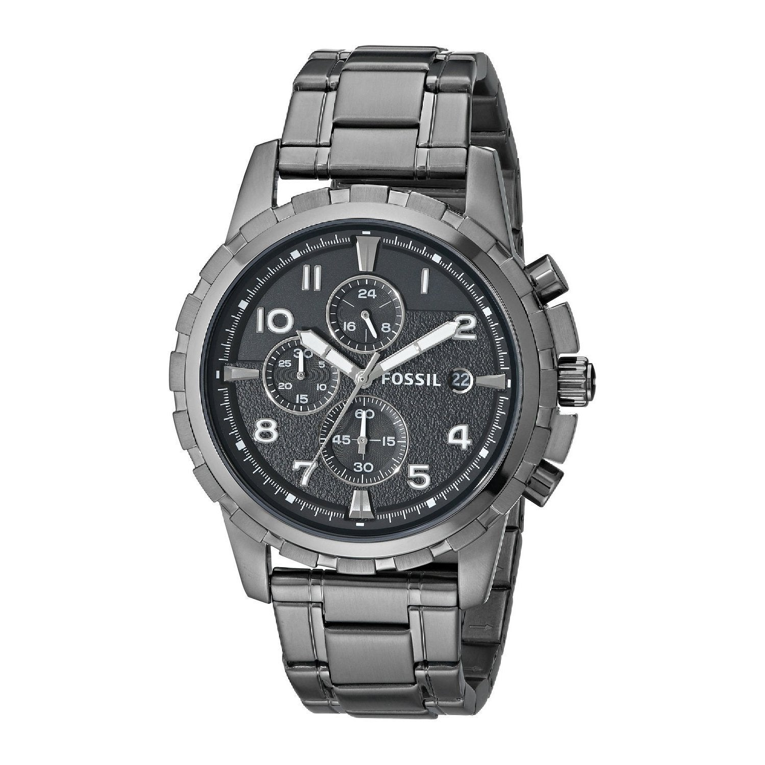 c54b68c97b2 Shop Fossil Men s  Dean  FS4721 Stainless Steel Watch - Free ...