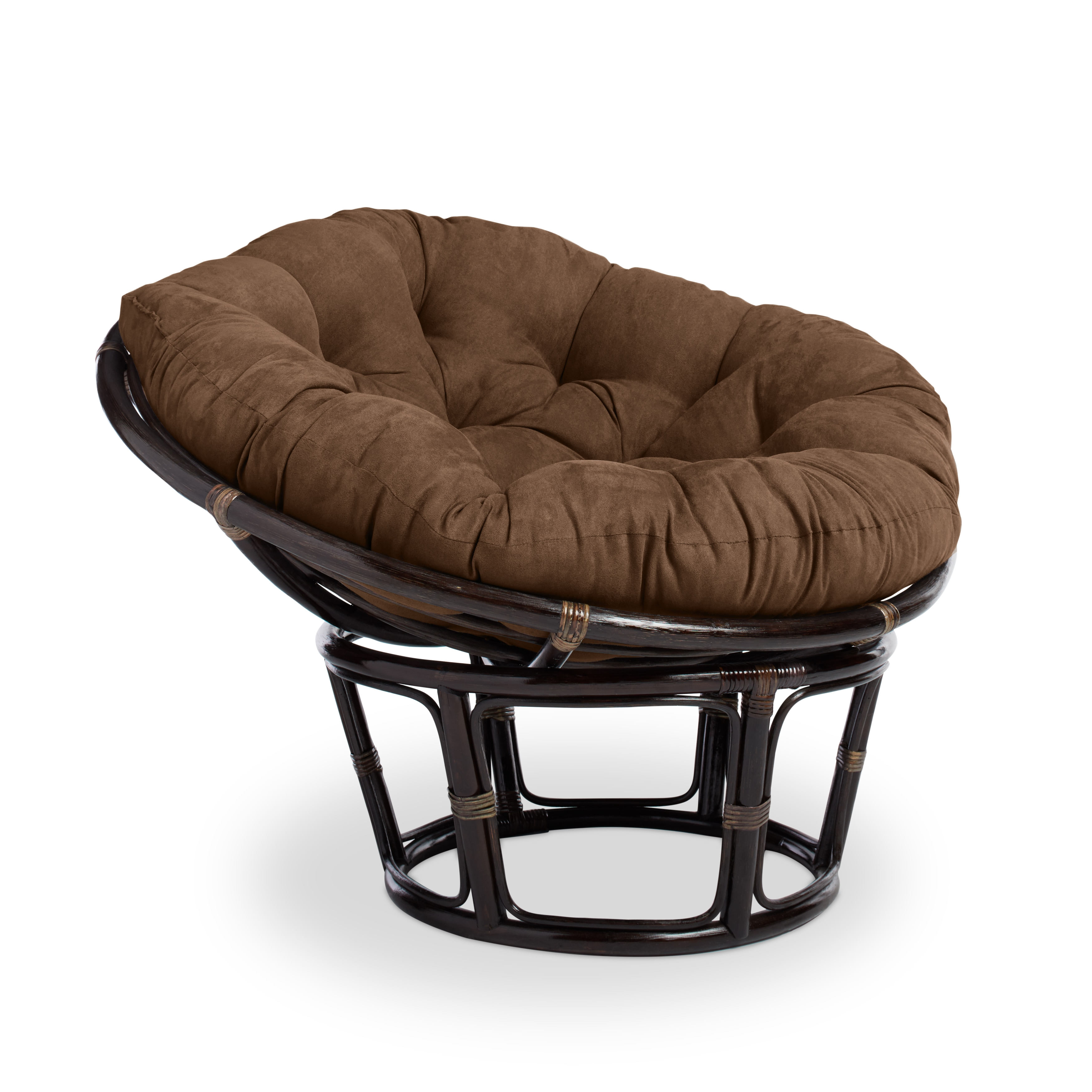 Shop International Caravan Bali 42 Inch Papasan Chair With Cushion   Free  Shipping Today   Overstock.com   7499742