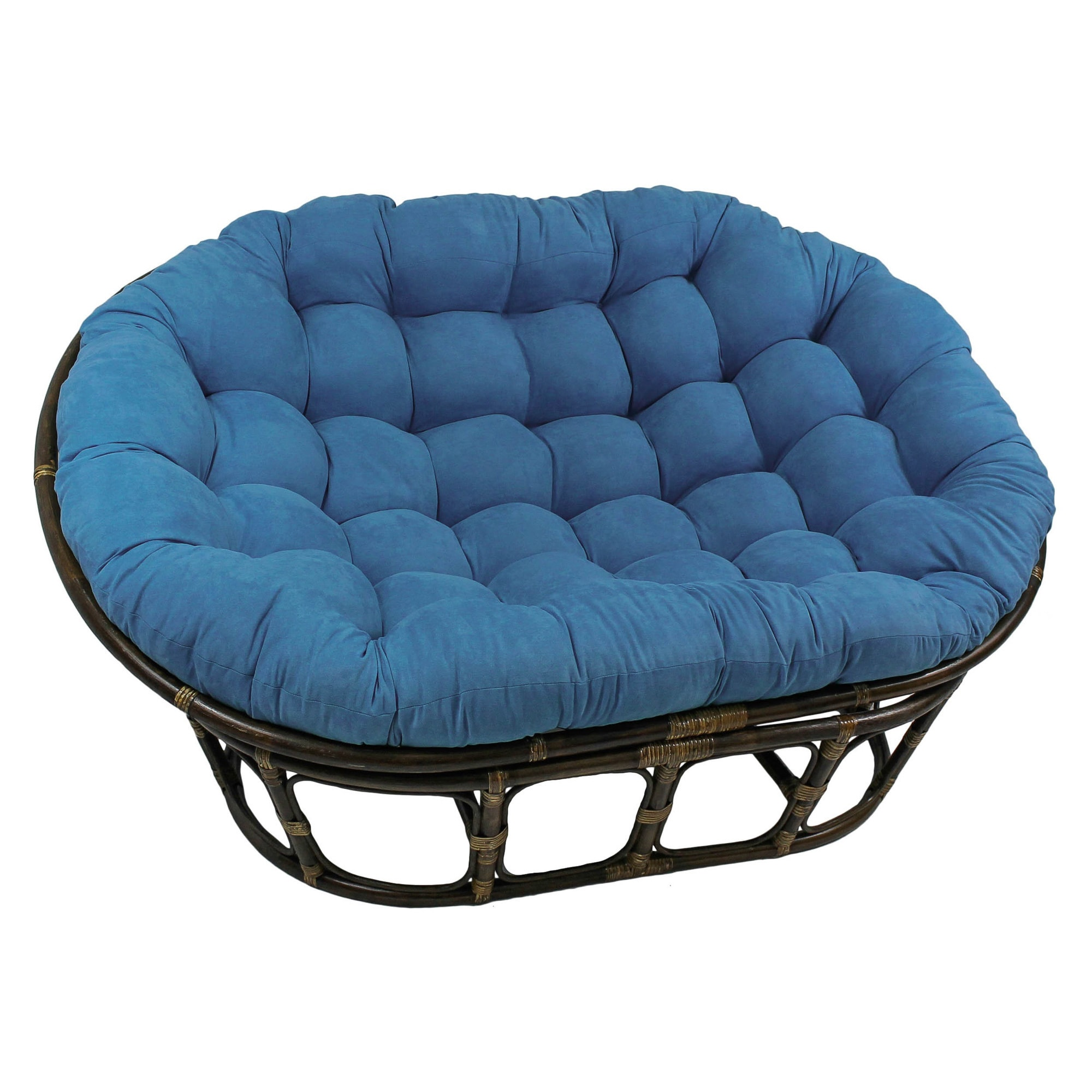 International Caravan Double Papasan Chair With Microsuede Cushion   Free  Shipping Today   Overstock.com   14942089