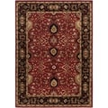 Hand-tufted Santee Red Wool Rug (2' x 4' Hearth)