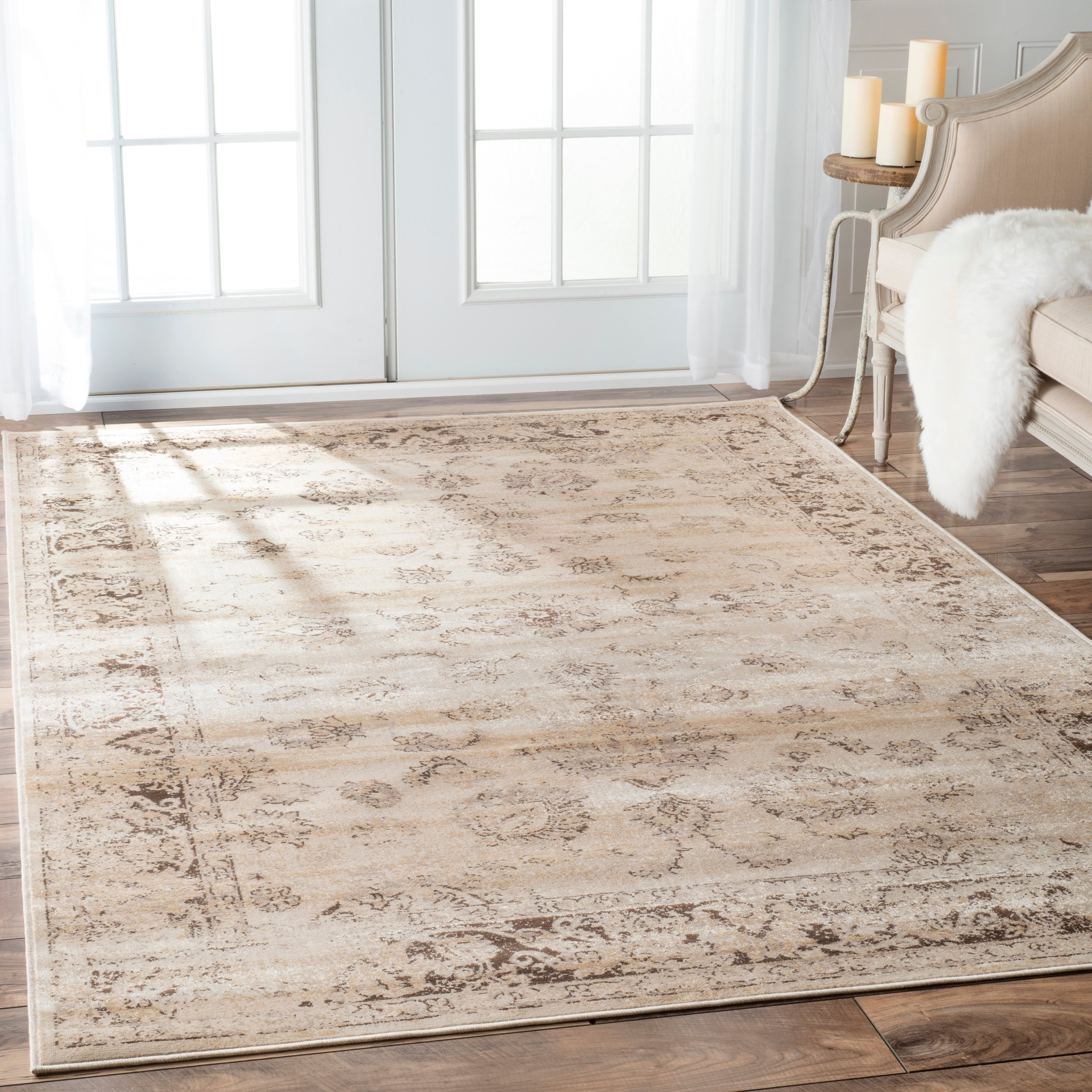 nuLOOM Tiffany Persian Vintage Viscose Ivory Area Rug - Free Shipping Today  - Overstock.com - 14946349