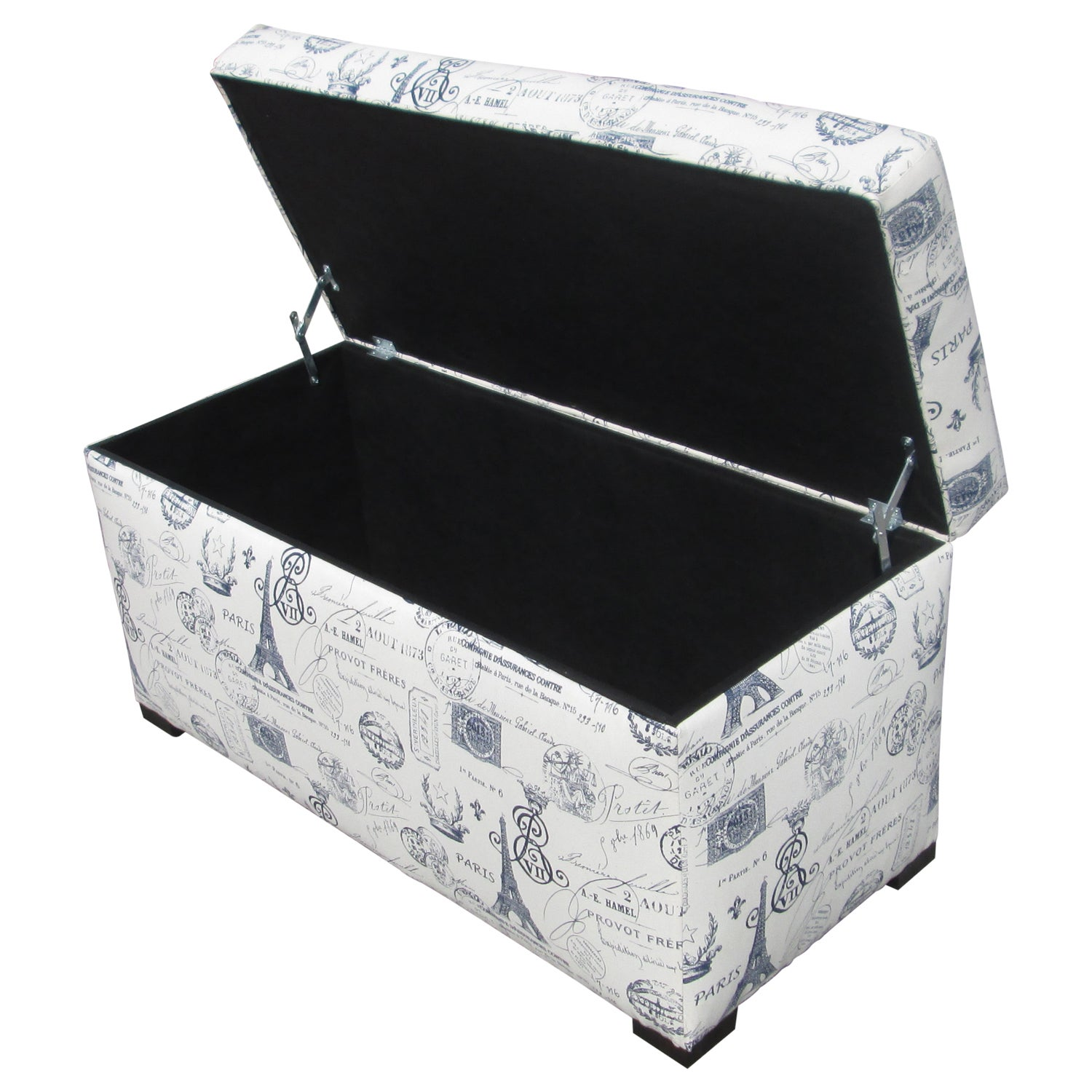 Shop Sole Designs Angela Paris Match Blue Storage Trunk   Free Shipping  Today   Overstock.com   7509469