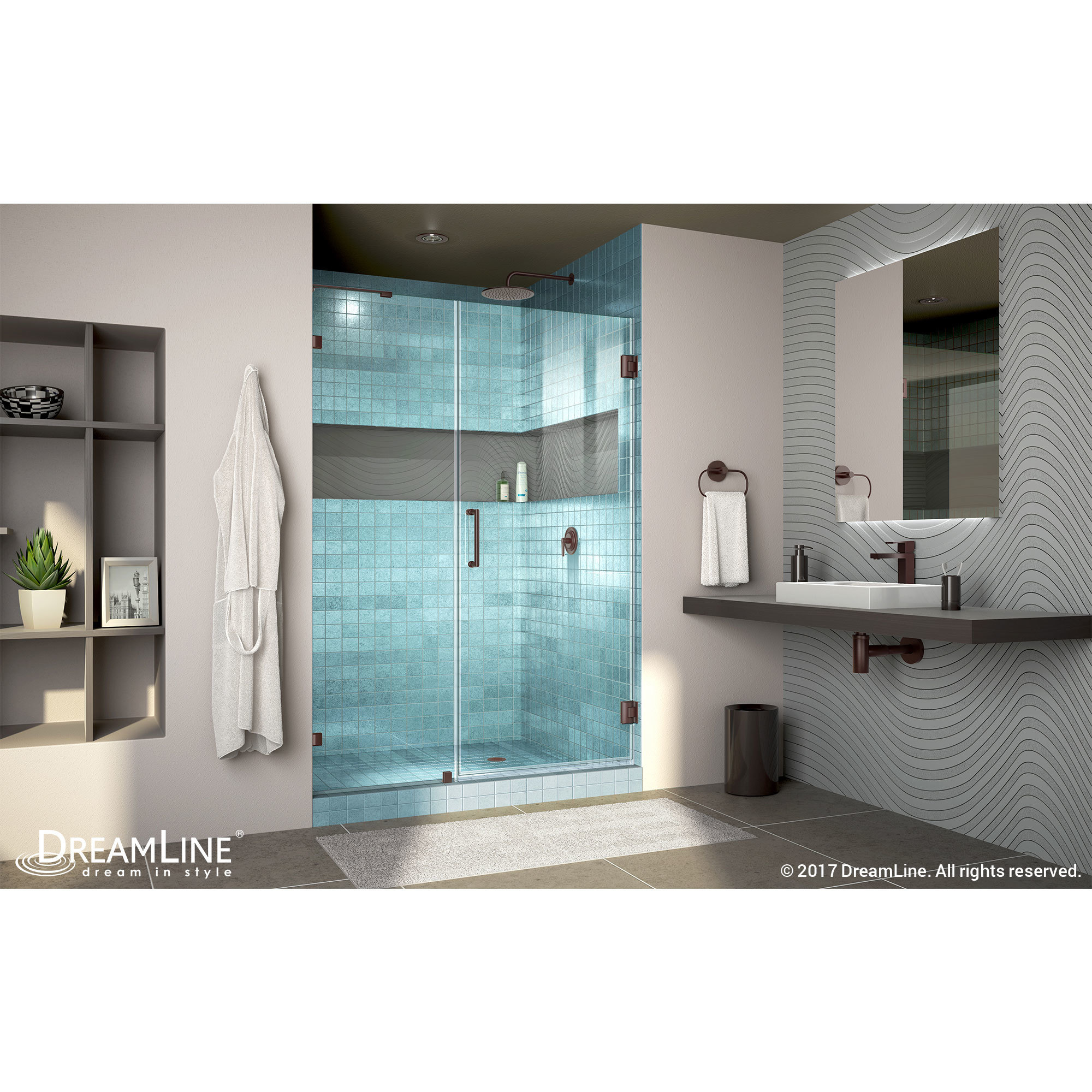 Shop DreamLine Unidoor Lux 45-48 in. Frameless Hinged Shower Door ...