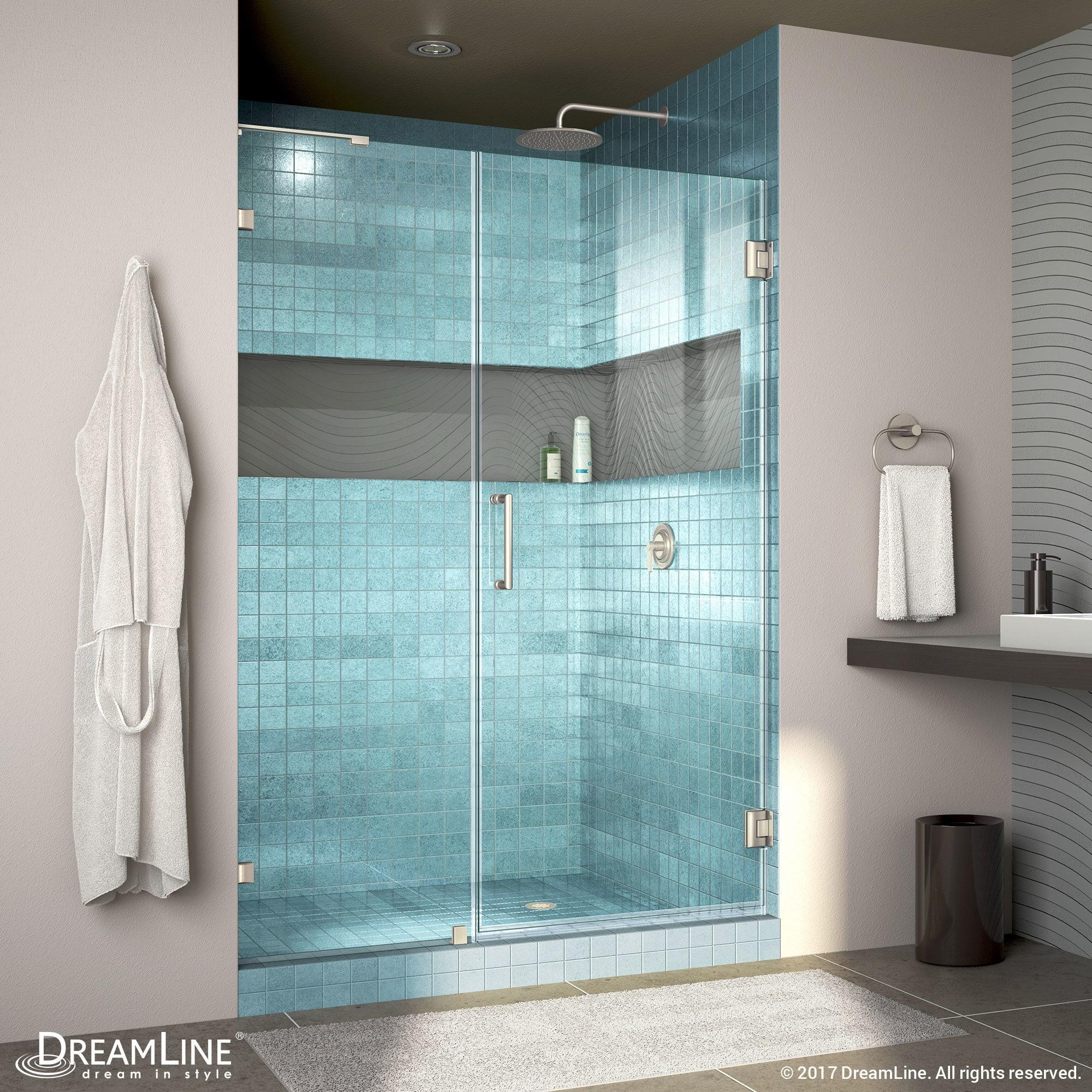 DreamLine Unidoor Lux 45-48 in. Frameless Hinged Shower Door (Non ...