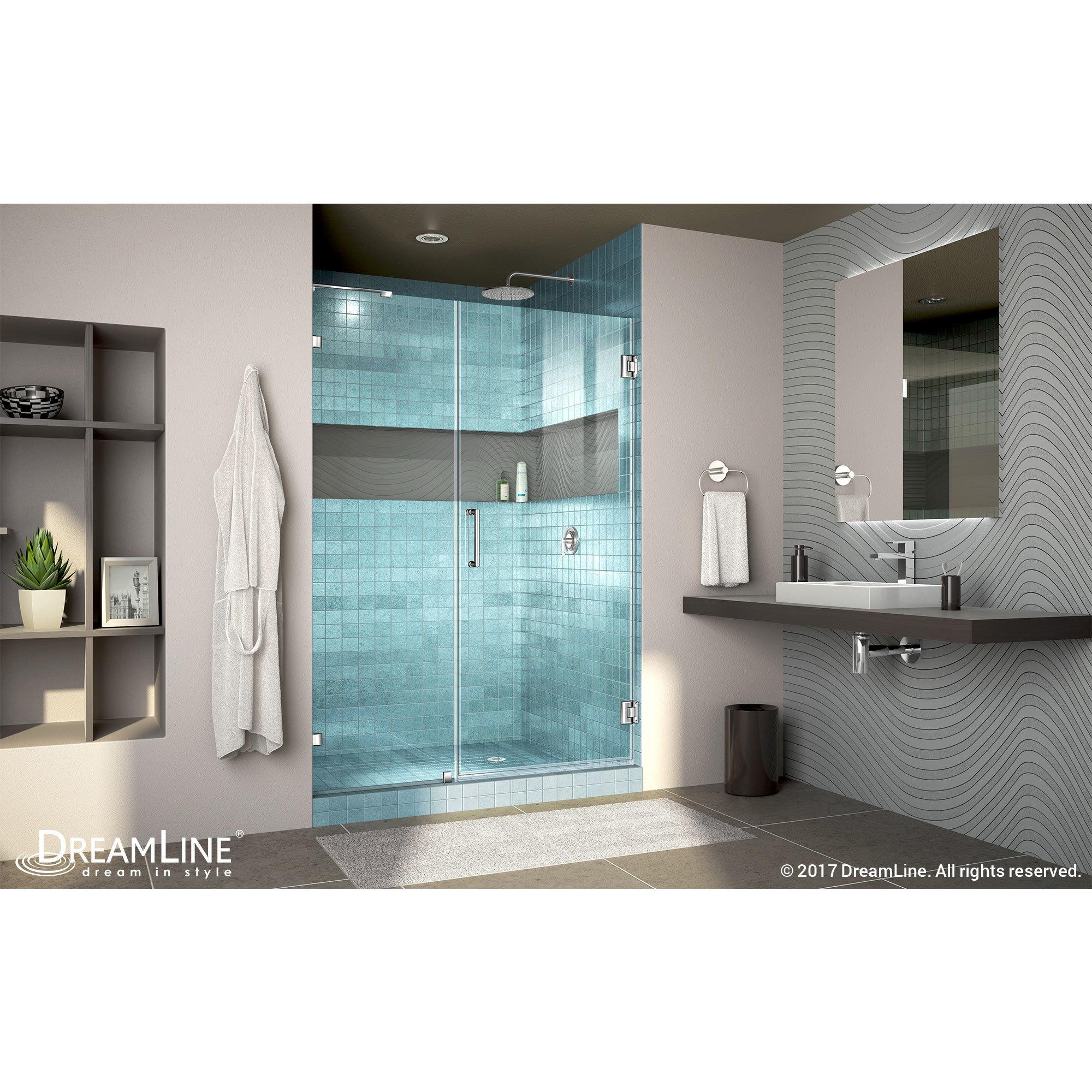 Shop DreamLine Unidoor Lux 45-48 in. Frameless Hinged Shower Door ...